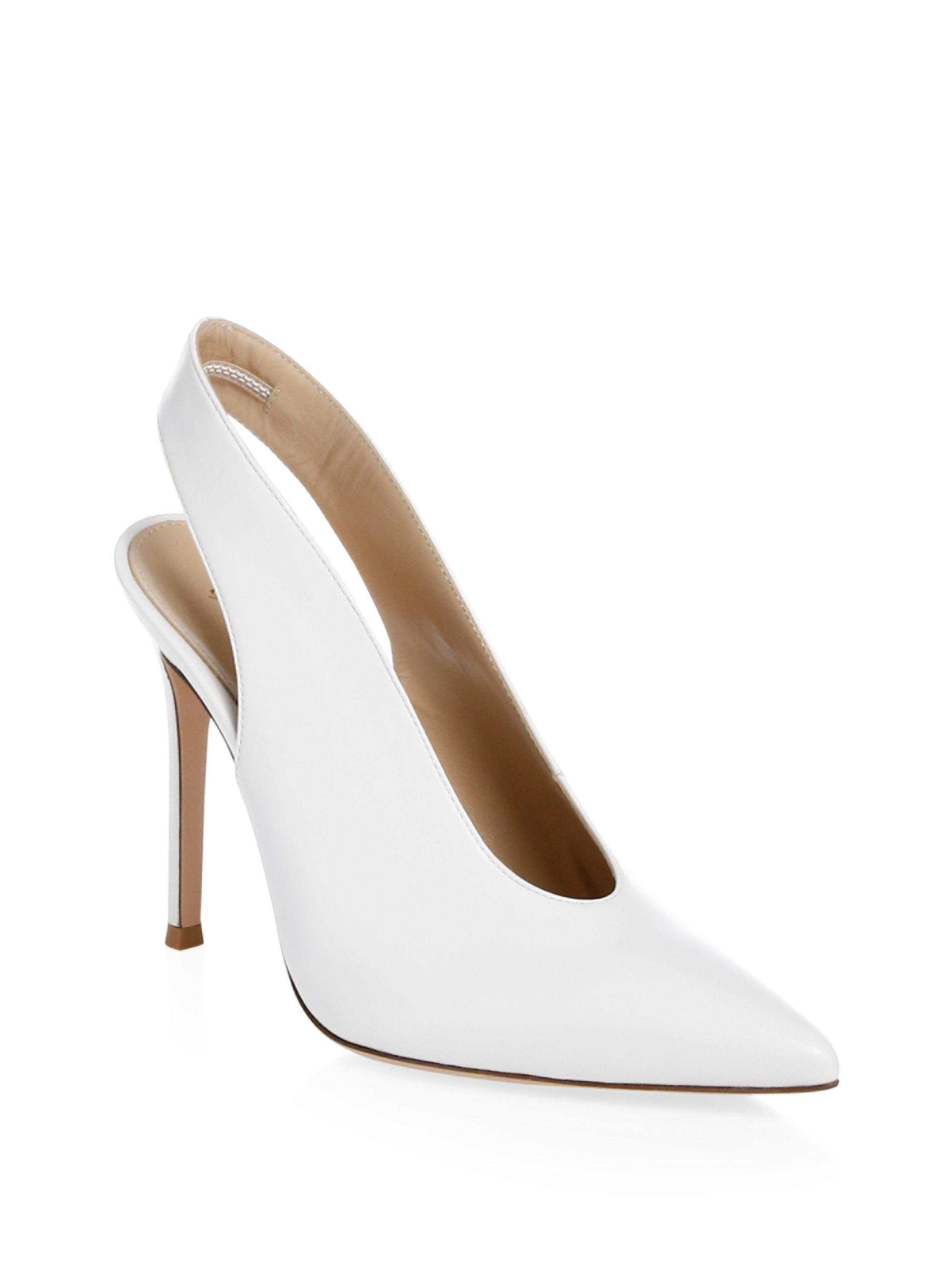 slingback pointed toe pumps - White Gianvito Rossi y50OPgF