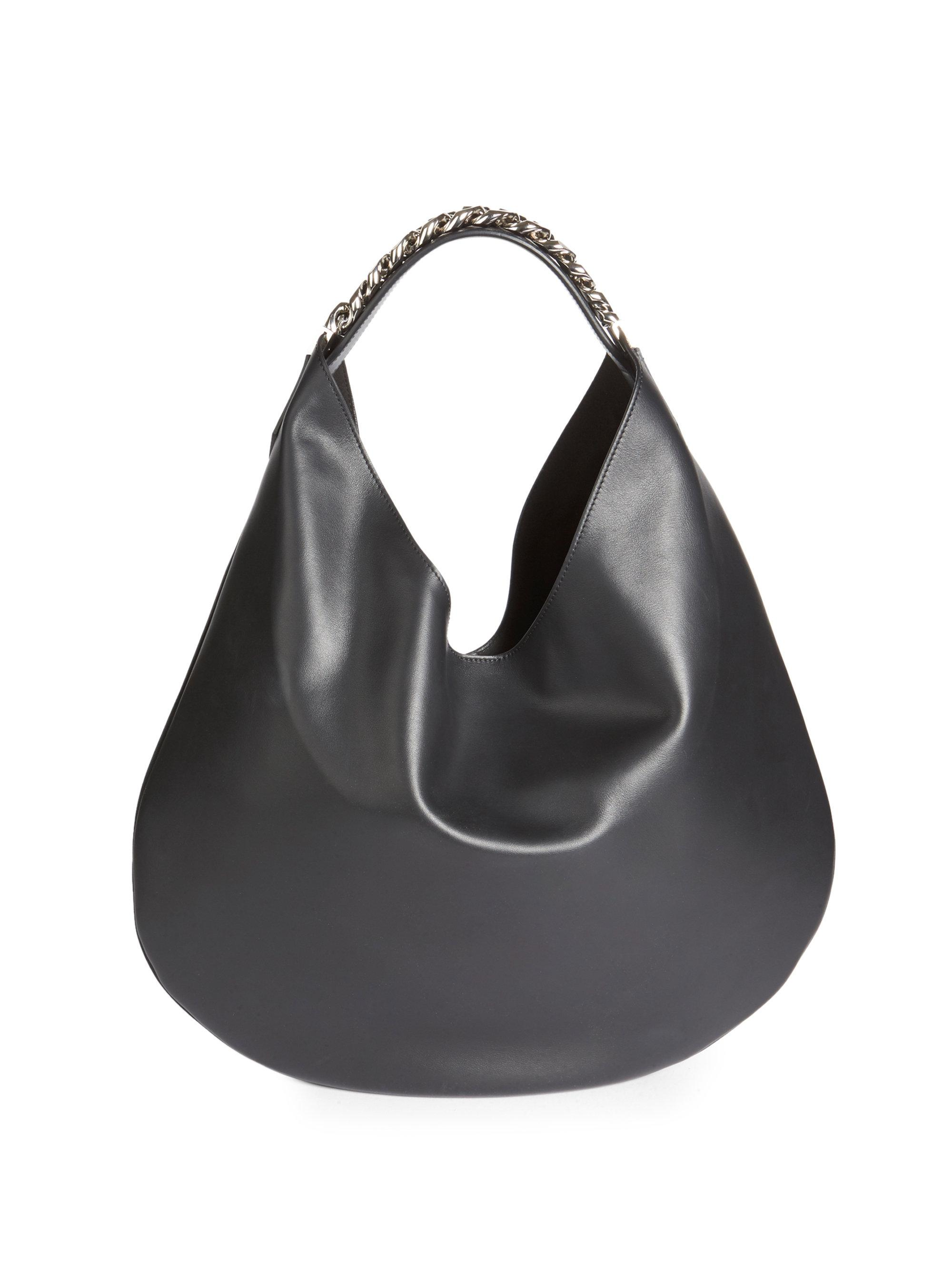 Lyst - Givenchy Infinity Small Leather Hobo Bag in Black 0b4fbb95c7b71