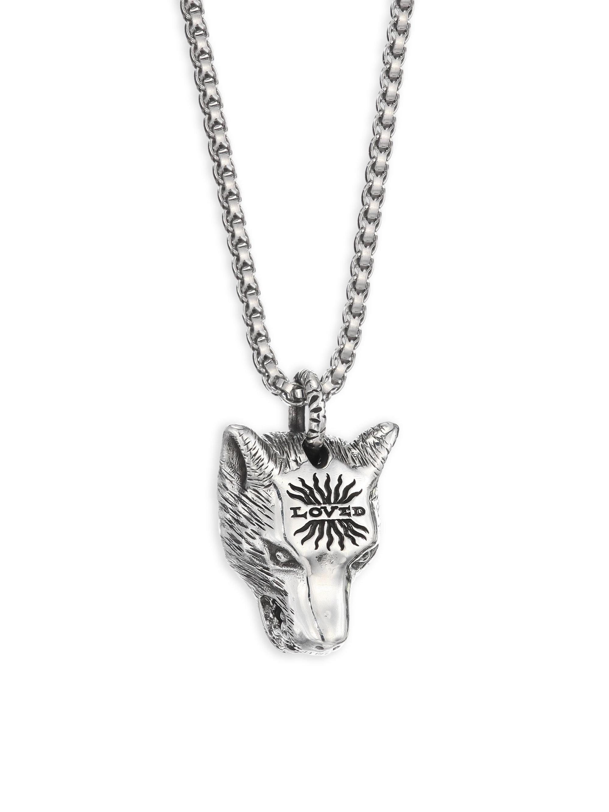head necklace fang wolf tiger ksvhs dragon tooth pendant cute jewellery