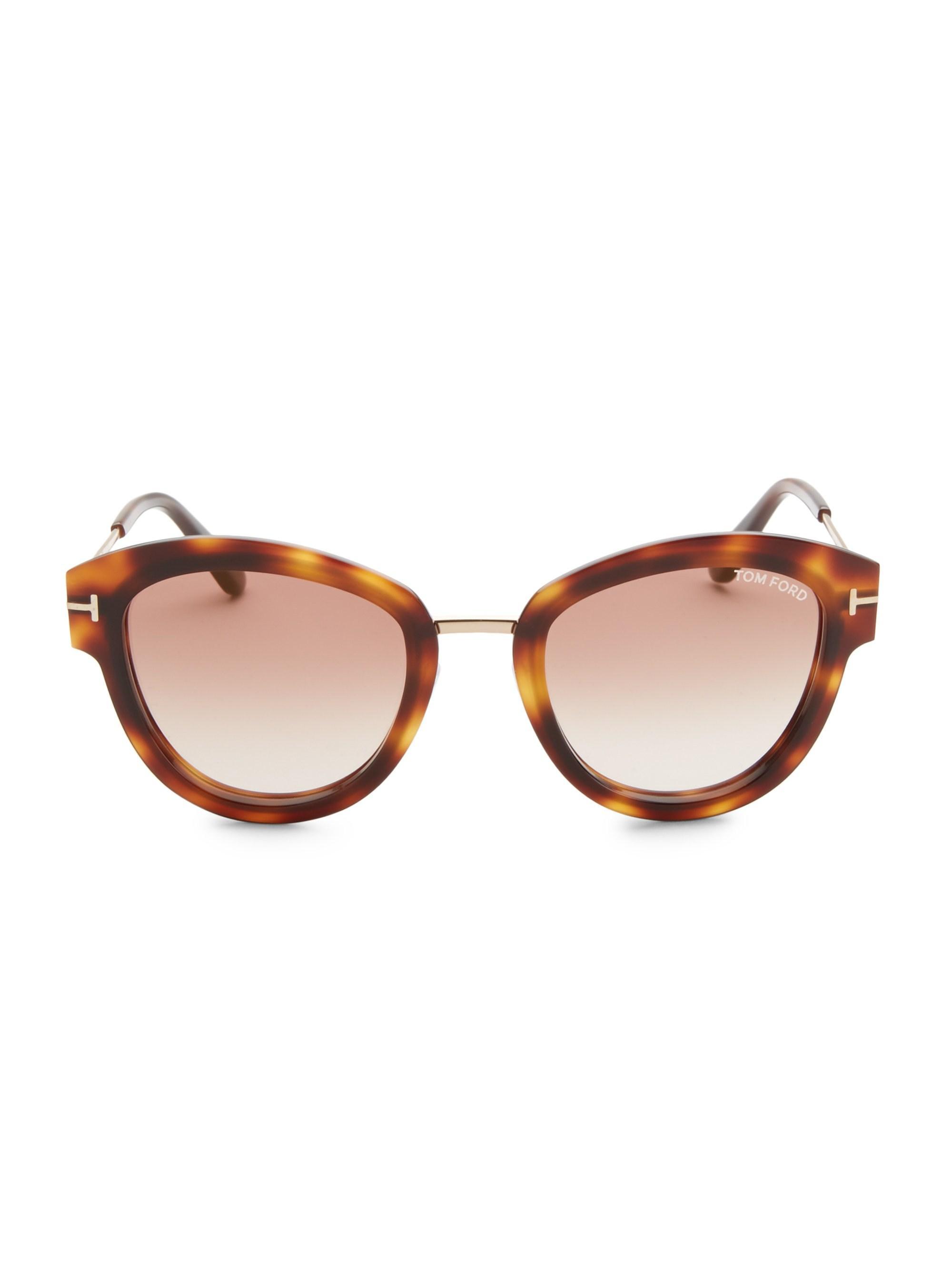 4c33b82d981 Tom Ford - Brown Mia Tortoiseshell Sunglasses - Lyst. View fullscreen