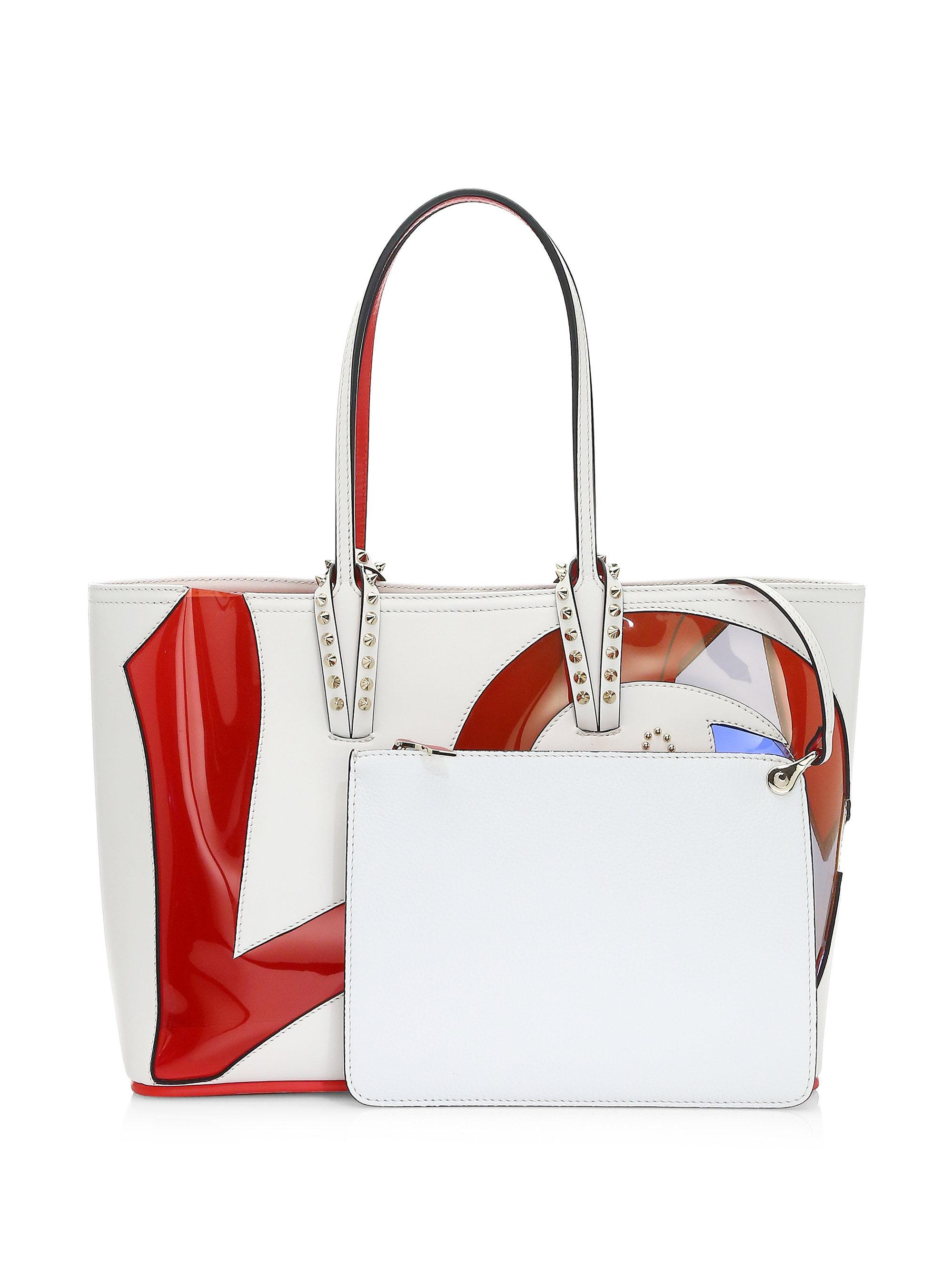 2599a9b0f5a Christian Louboutin Red Cabata Love Calf Paris Tote Bag