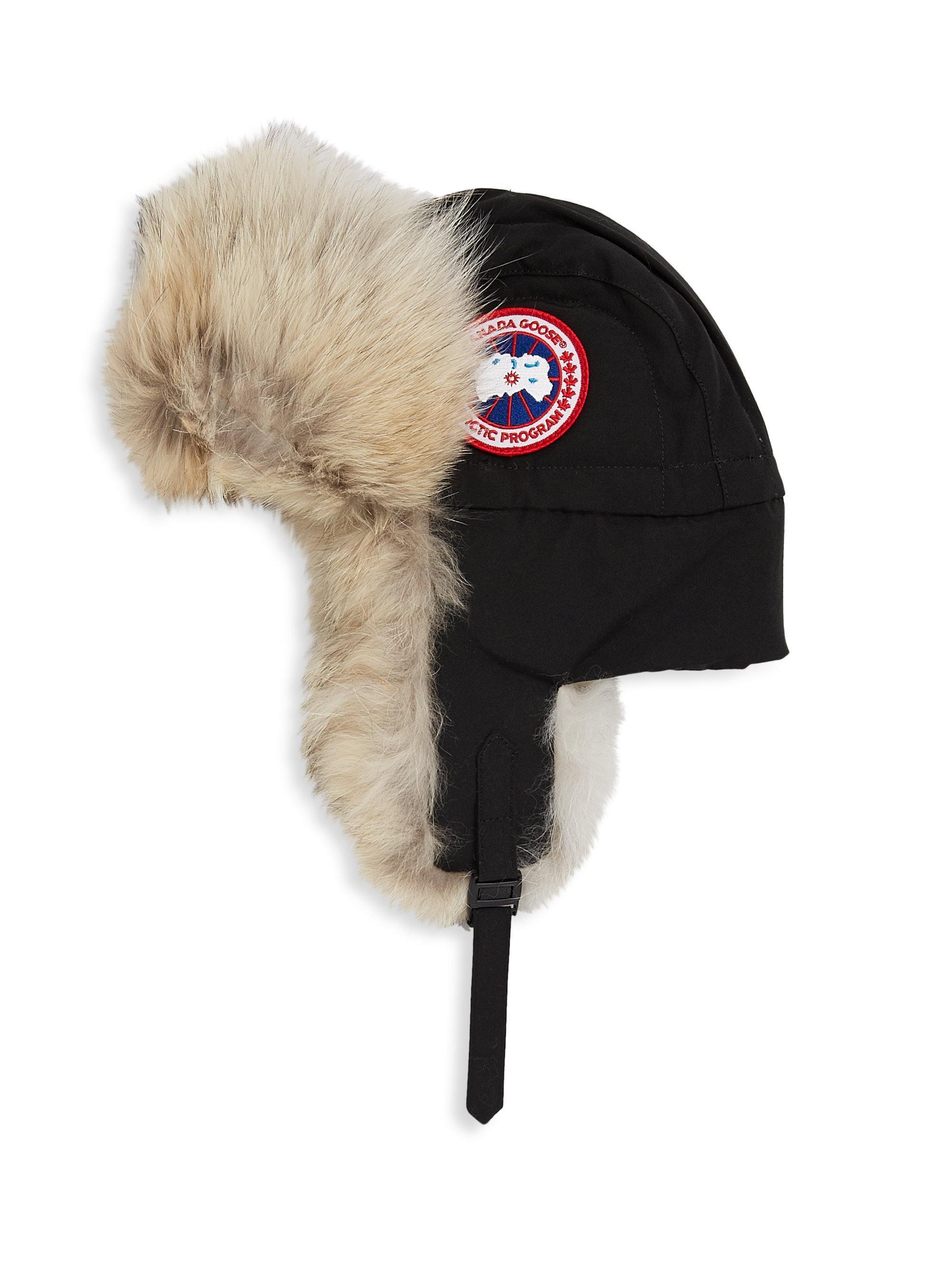 c05bcc3775d Canada Goose - Black Aviator Fur Hat for Men - Lyst. View fullscreen