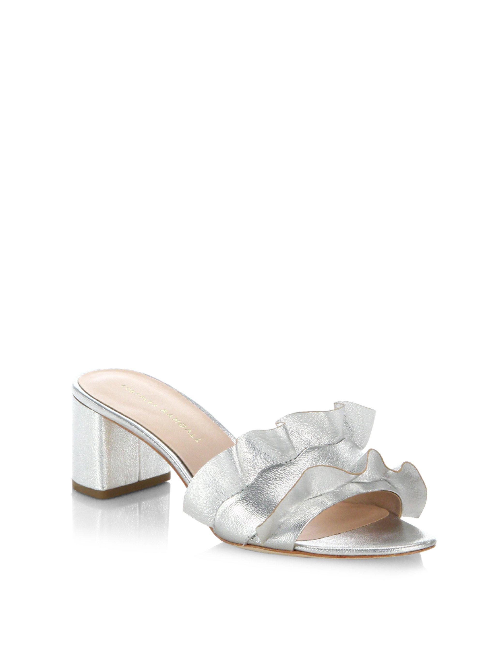 Loeffler Randall Metallic Leather Sandals v0iX4W