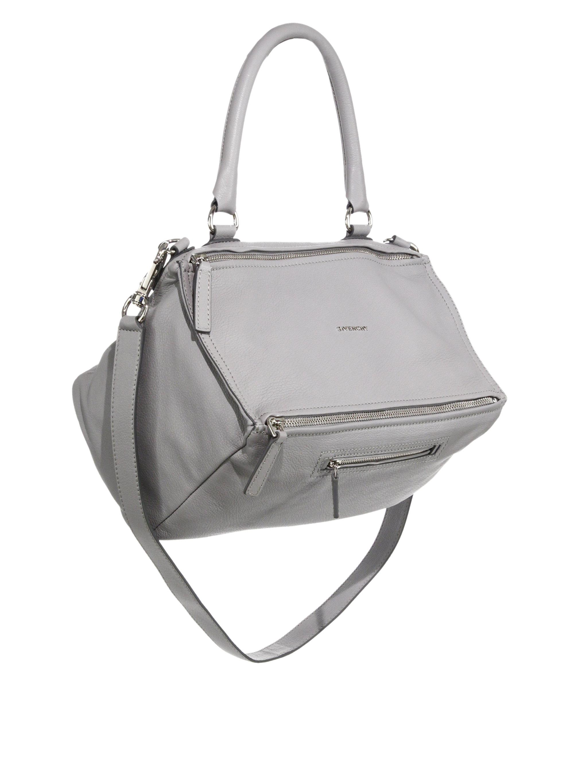 55e19f4c1761 Lyst - Givenchy Pandora Medium Leather Shoulder Bag in White