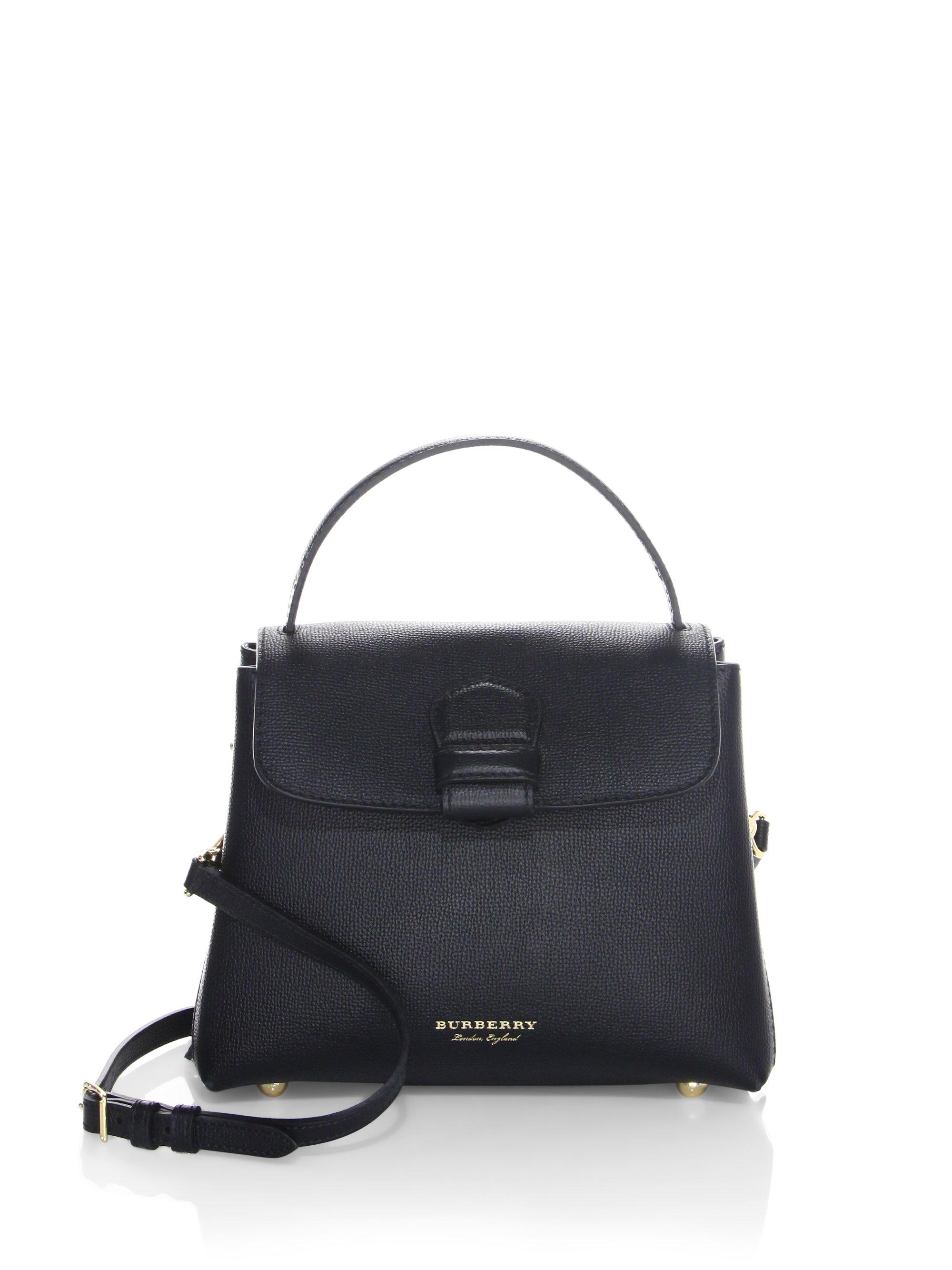 bb1a83f60f9 Burberry Camberley Leather House Check Tote in Black - Lyst