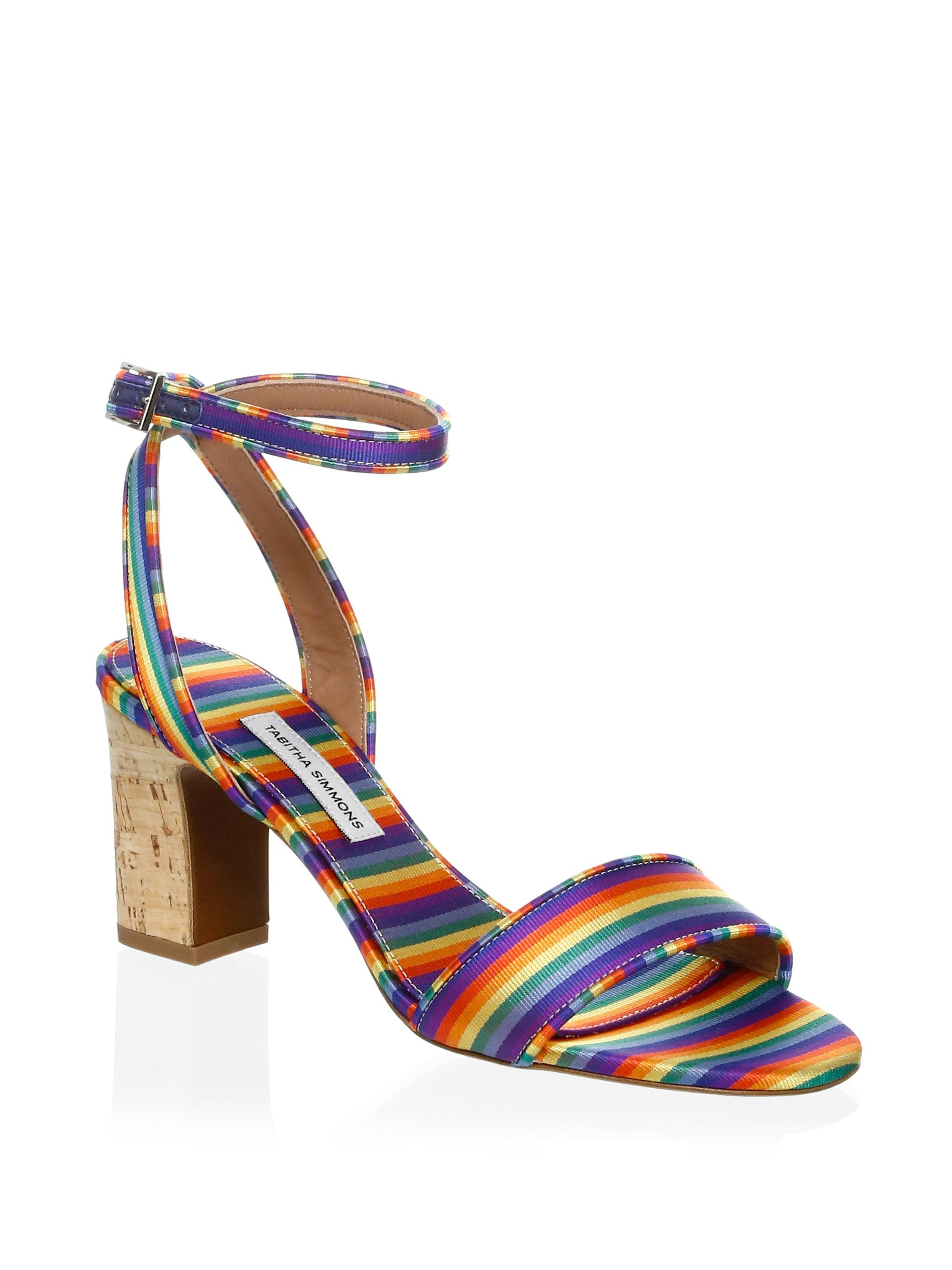 Tabitha Simmons Leticia Stripe Sandals PGzYt