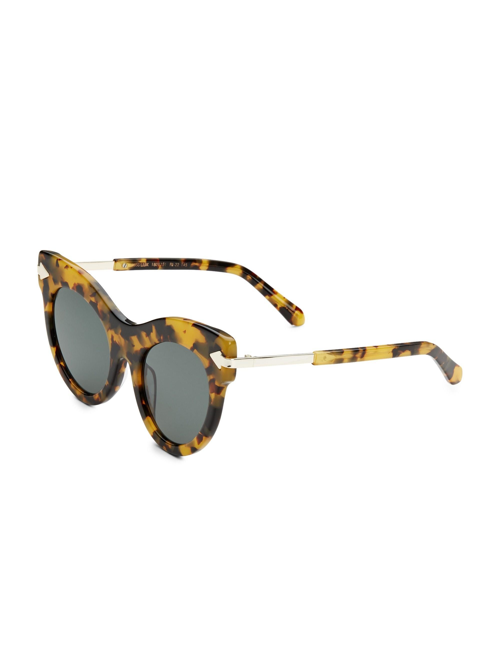 391df34c4e1 Lyst - Karen Walker Women s Miss Lark 52mm Cat Eye Sunglasses - Tortoise