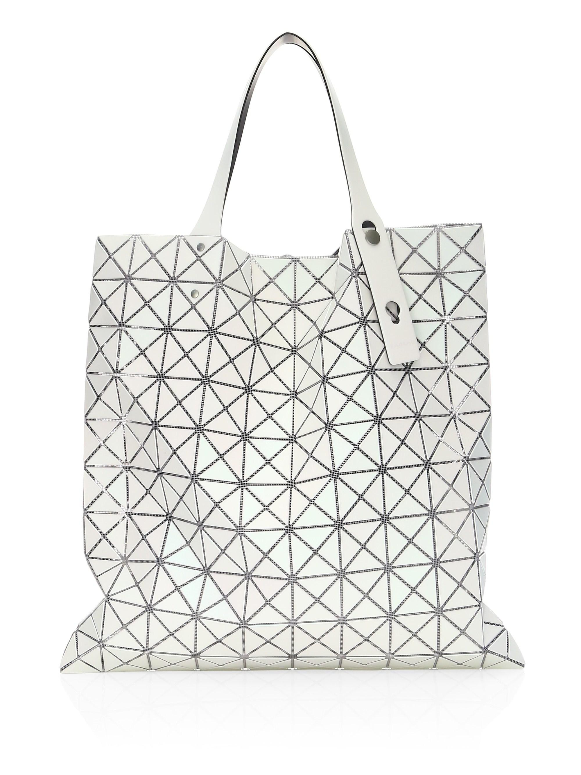 Bao Bao Issey Miyake White Prism Frost Tote in White - Lyst a67b1cab0f37f