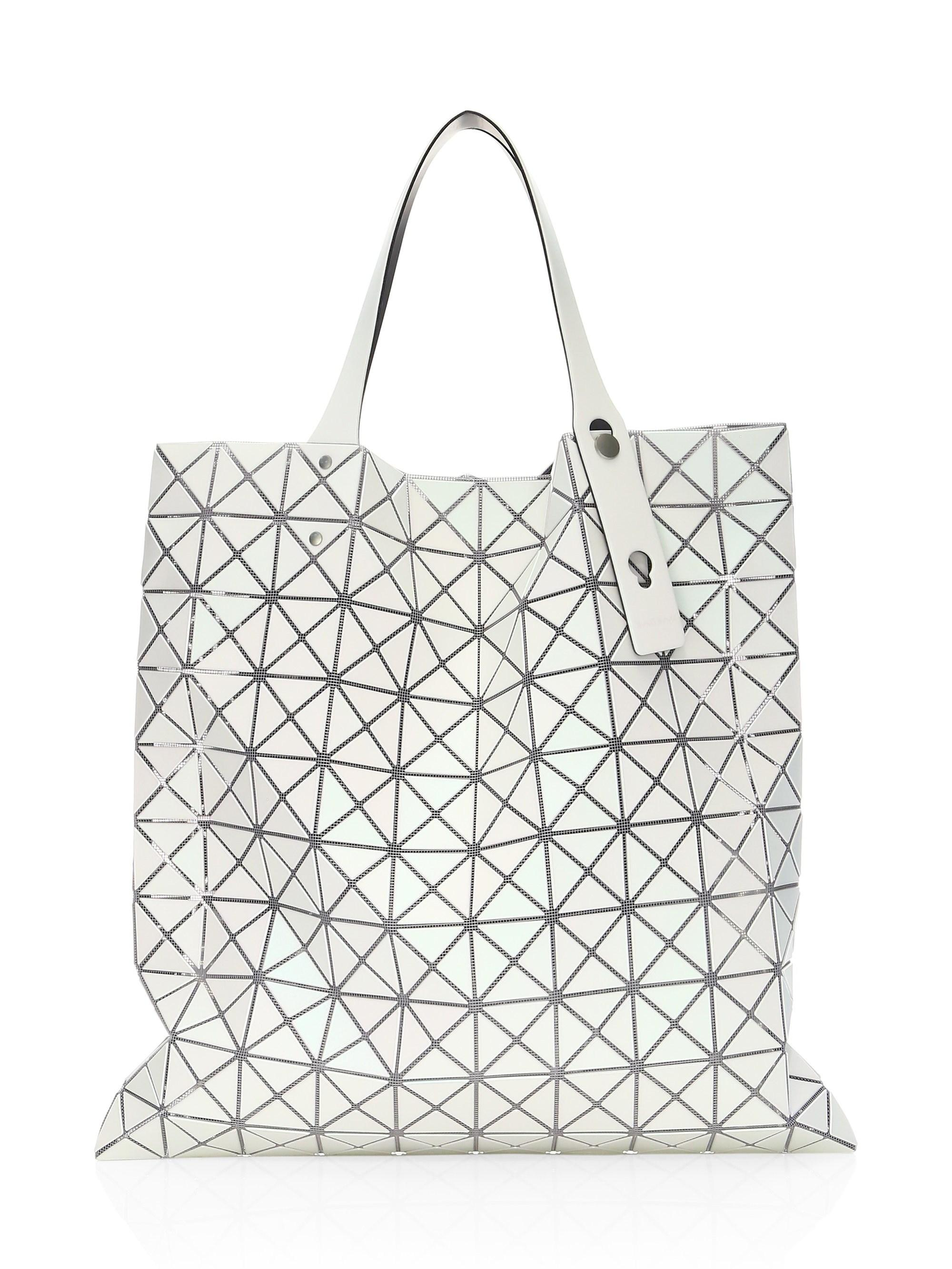 Lyst - Bao Bao Issey Miyake White Prism Frost Tote in White 2afefc69ad4ec