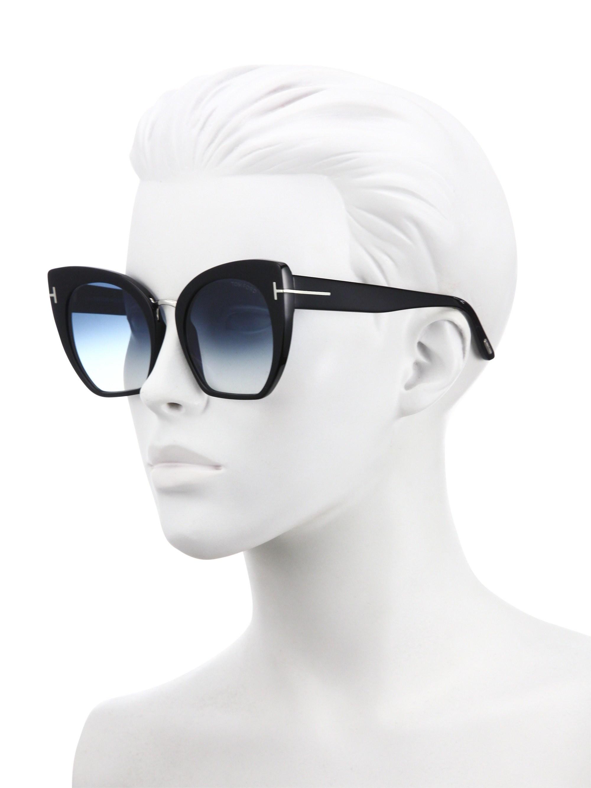0e61484cc8d Tom Ford - Samantha Cropped Cat-eye Sunglasses black - Lyst. View fullscreen