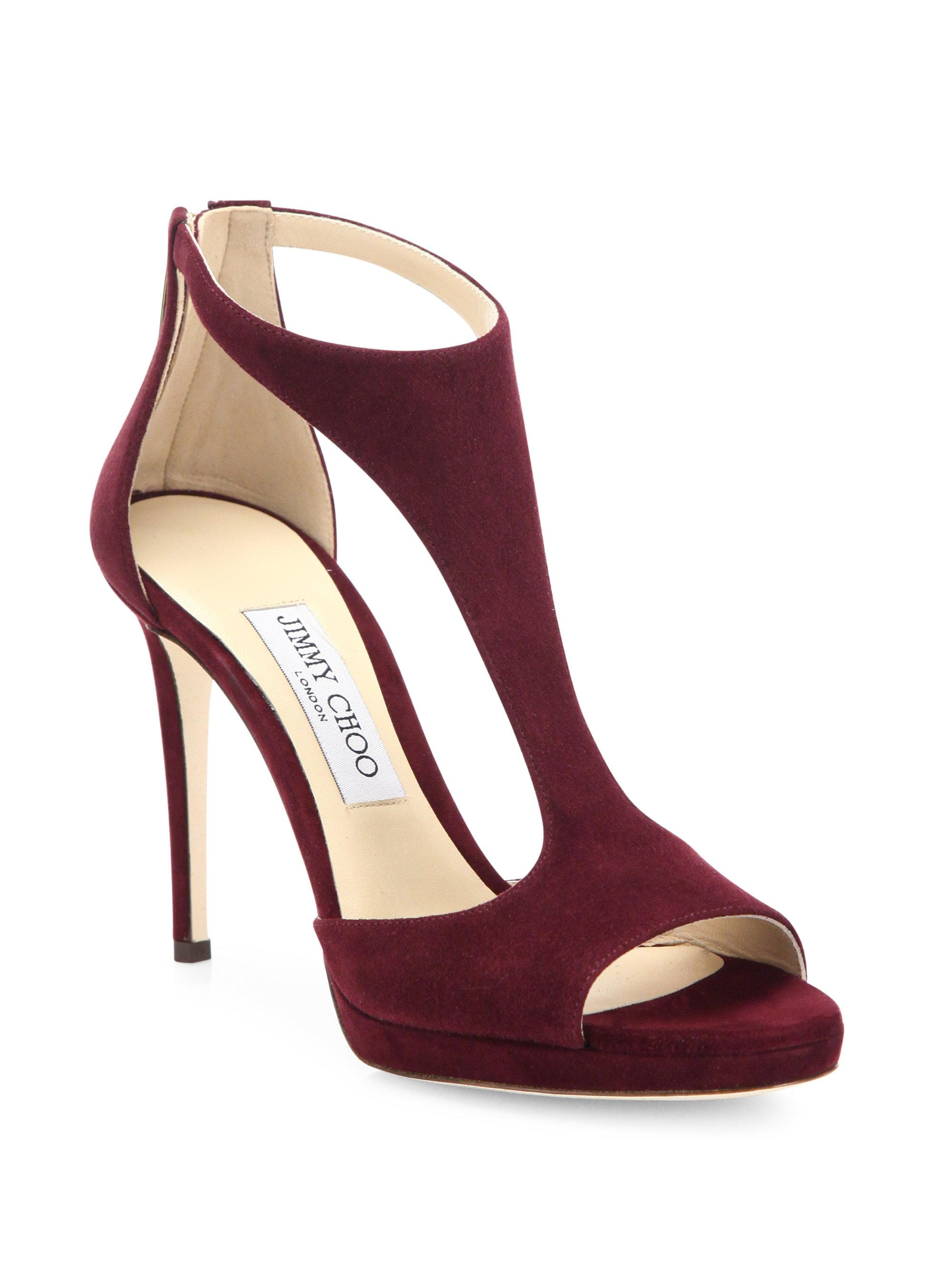 free shipping good selling from china sale online Jimmy Choo Leather T-Strap Sandals best sale cheap online EKYyi