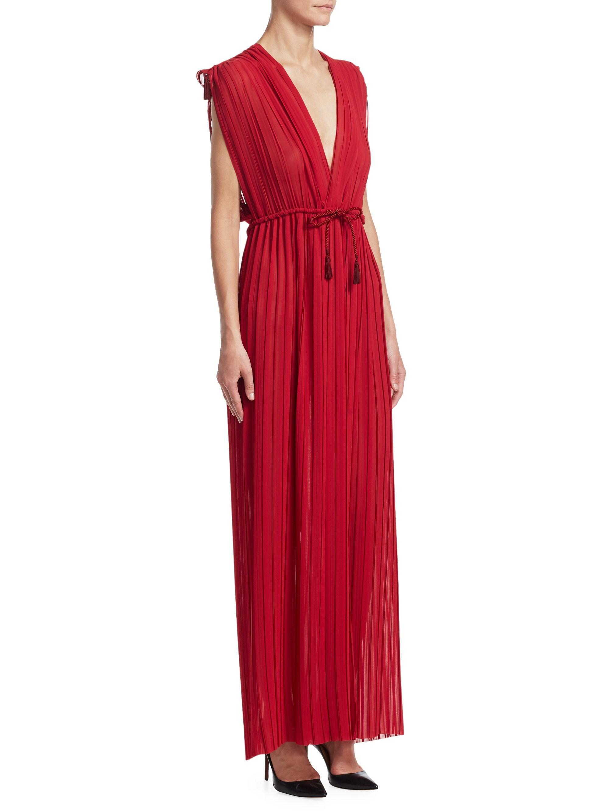 Lyst - Tre by Natalie Ratabesi Minerva Chiffon Maxi Dress in Red febd4d6d9d