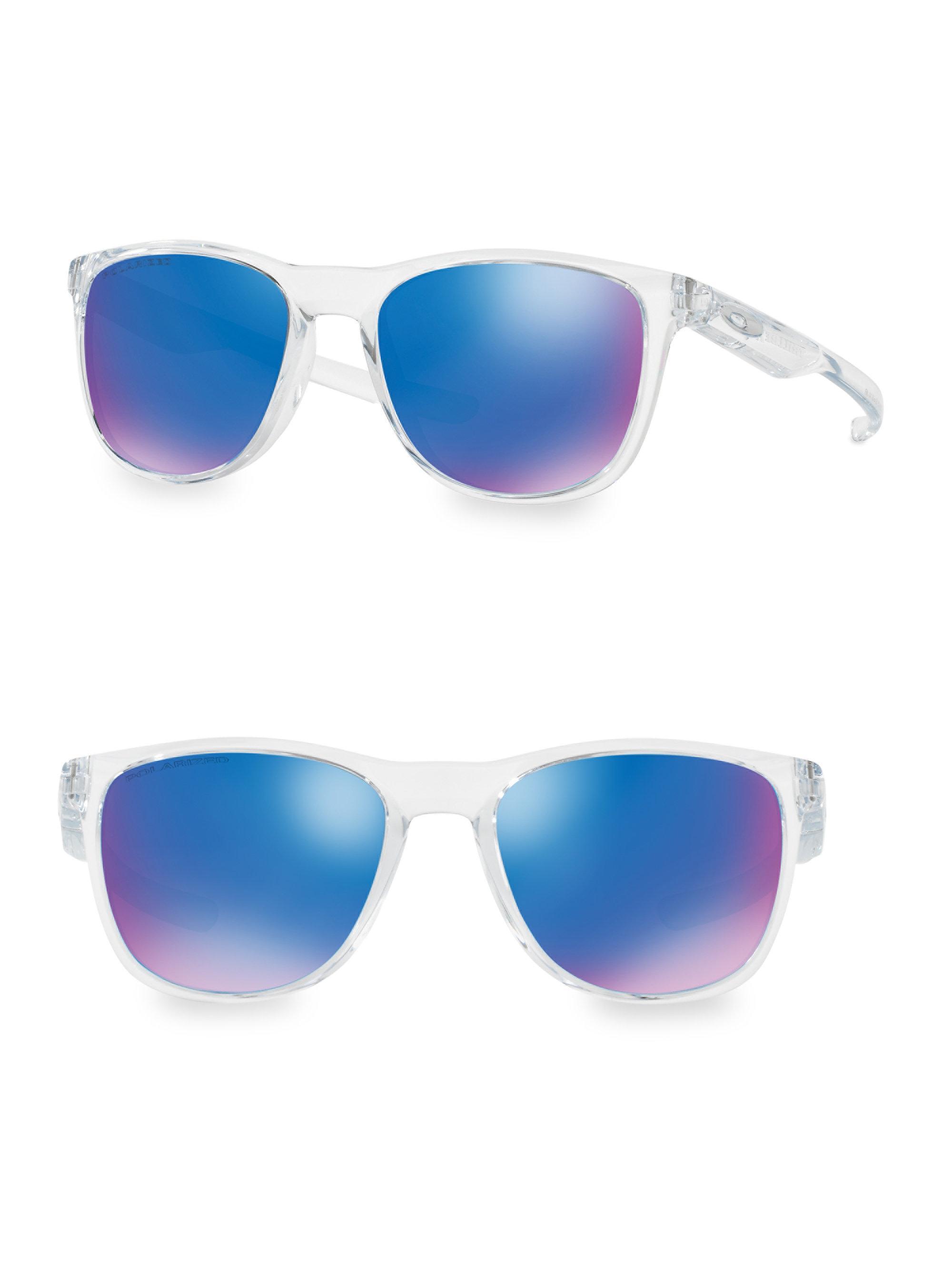1e32abe978 Oakley Trillbetm X Polarized Round Sunglasses in Blue - Lyst