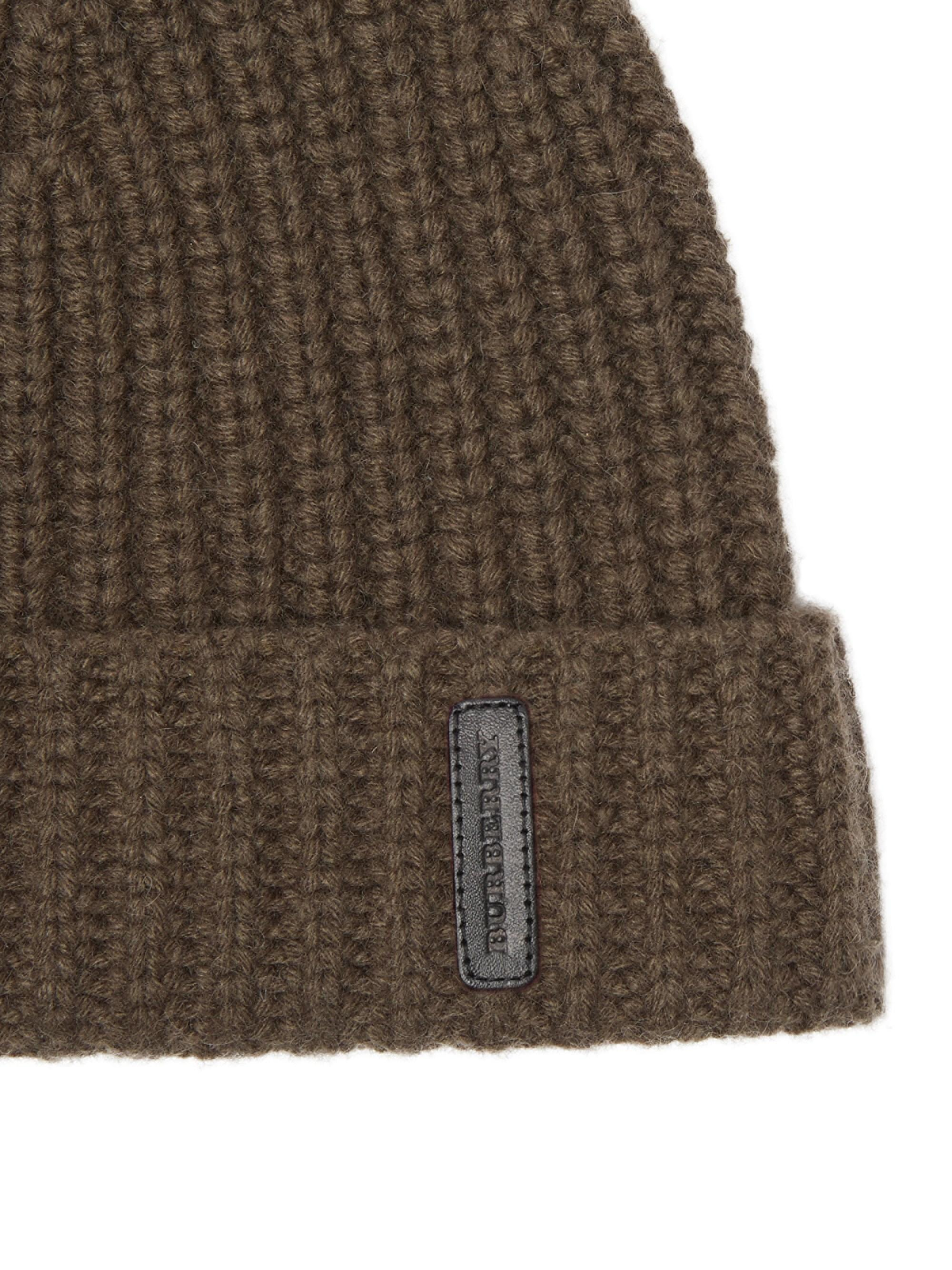 eb165a43d59 Lyst - Burberry Fisherman-knit Cashmere Beanie in Green for Men