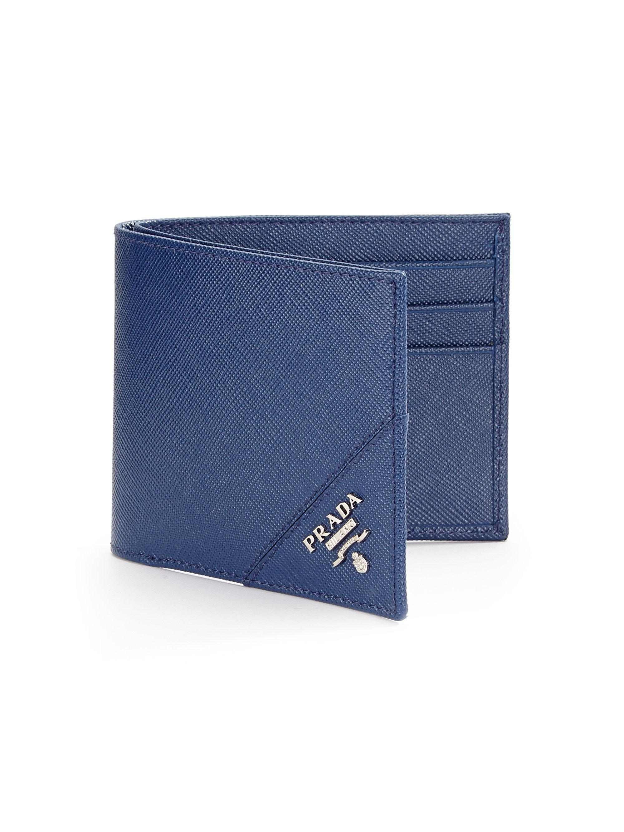 ea317ab7dd ... real lyst prada orizzontale wallet in blue for men a3518 be29a