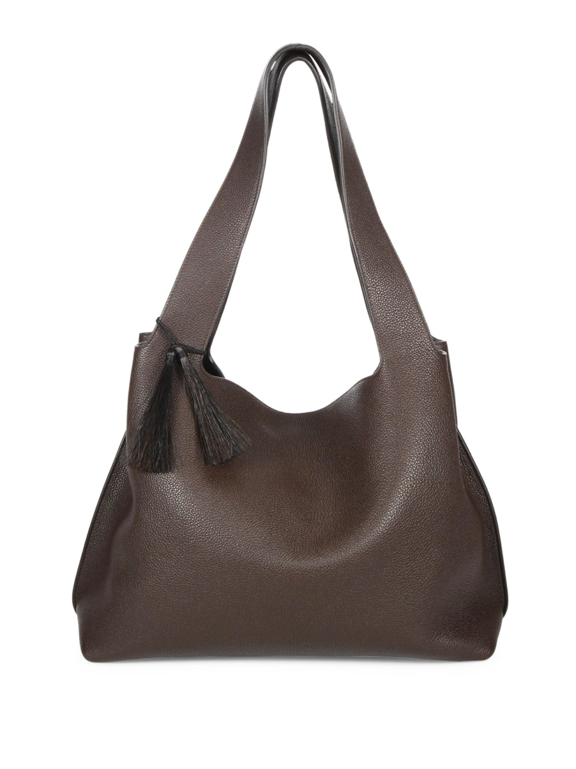 Duplex Small leather shoulder bag The Row N2RRt