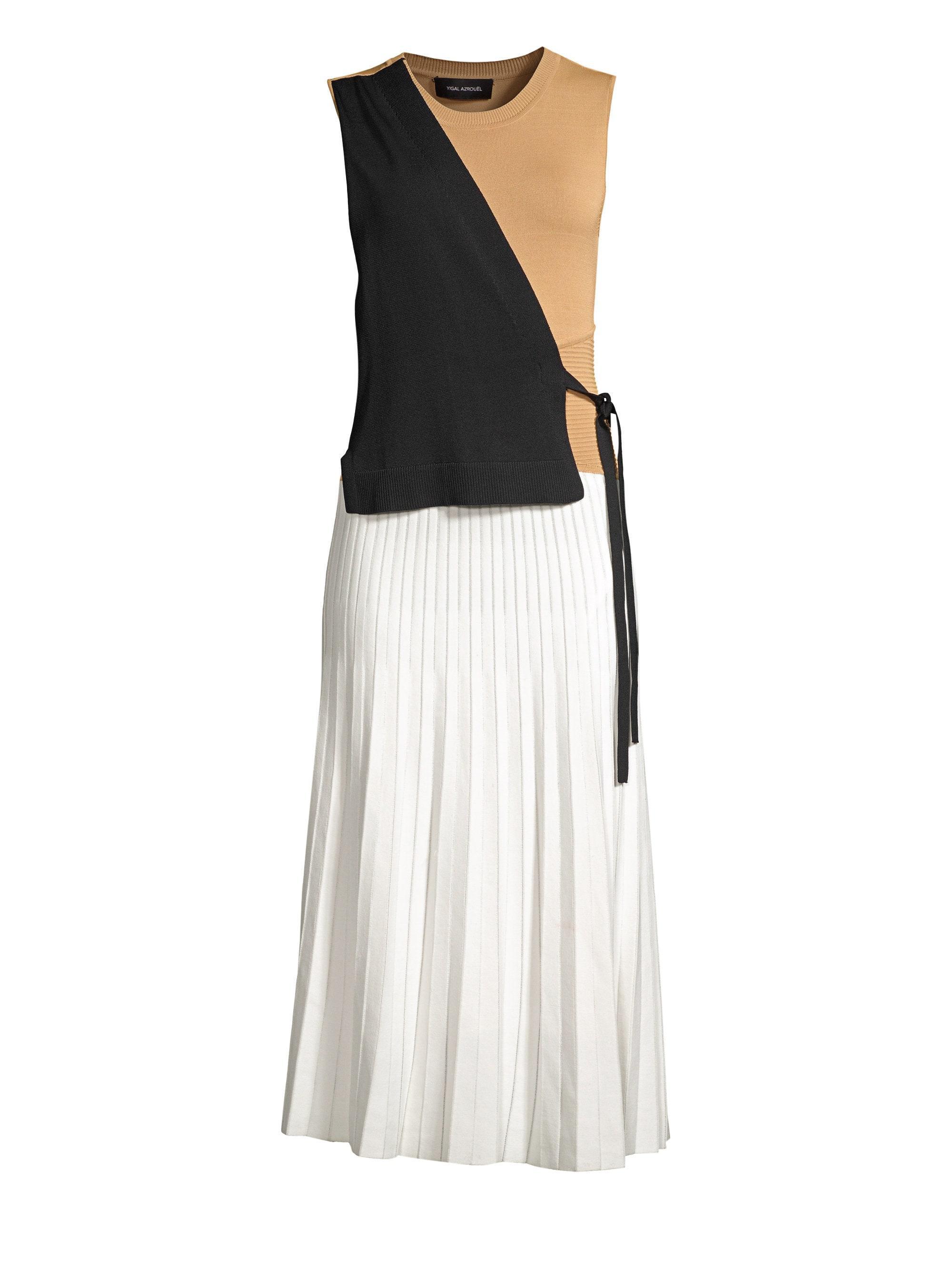 e7a4e48633ee Yigal Azrouël - Multicolor Color Block Wrap Dress - Lyst. View fullscreen