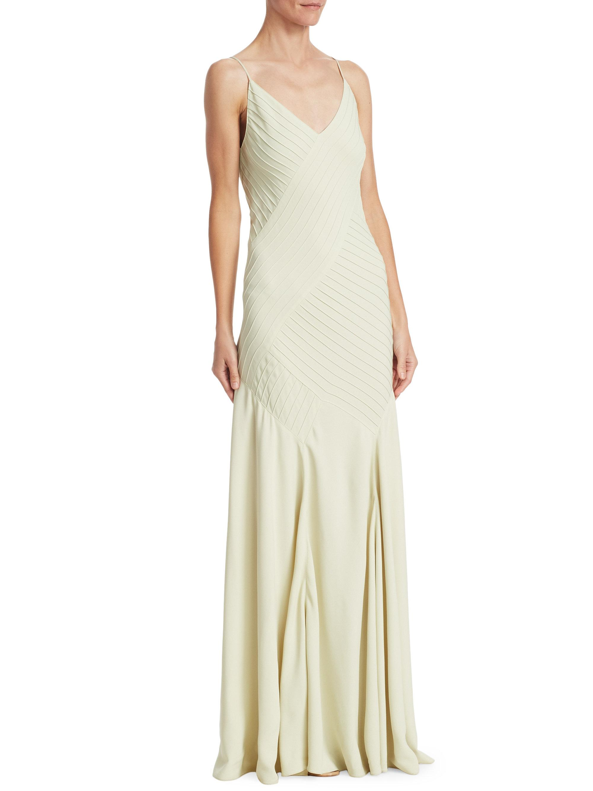 Lyst Ralph Lauren Collection Augustina Evening Dress In Blue