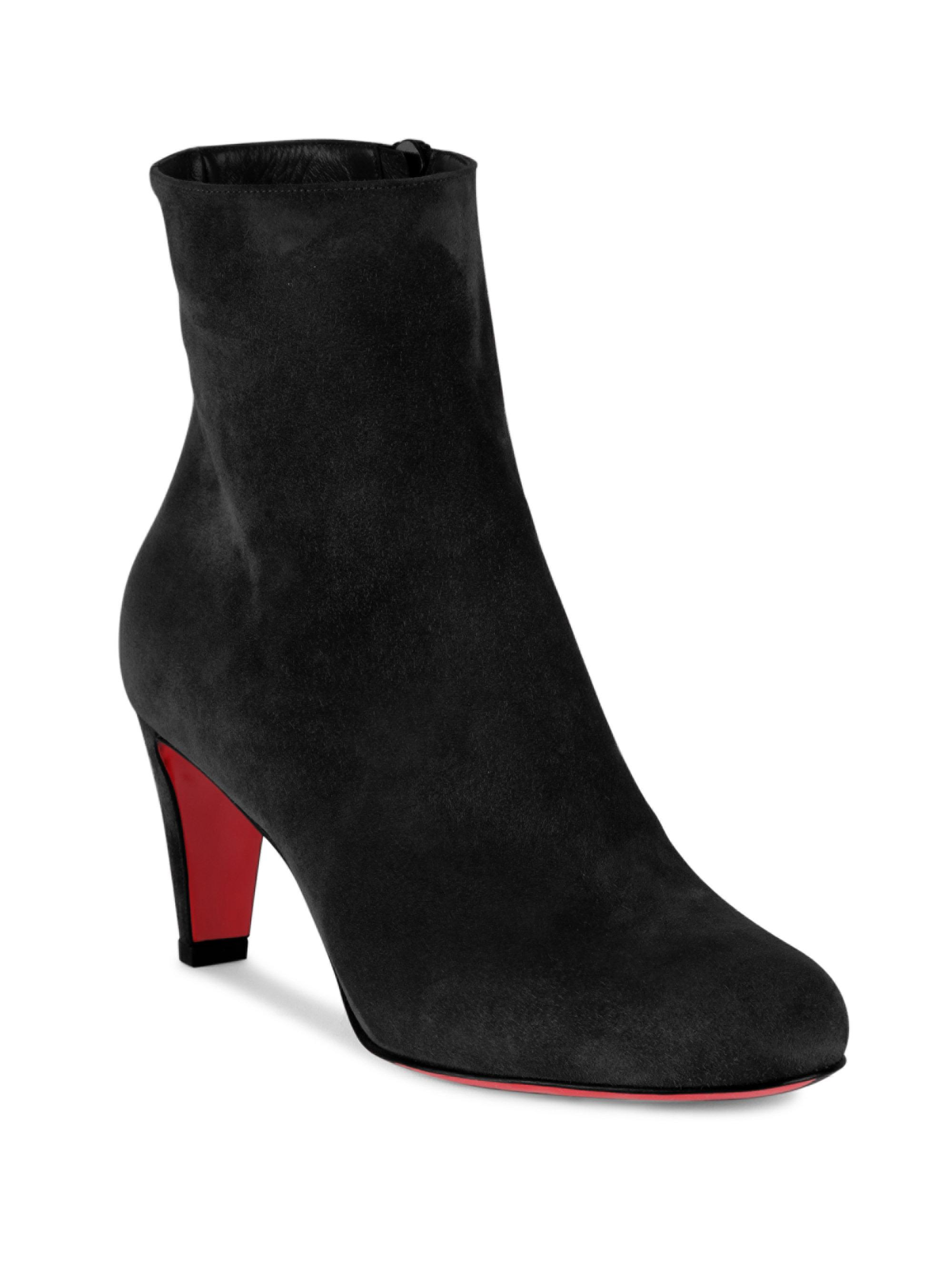 official photos f5893 4cc5c Christian Louboutin Black Top 70 Suede Booties