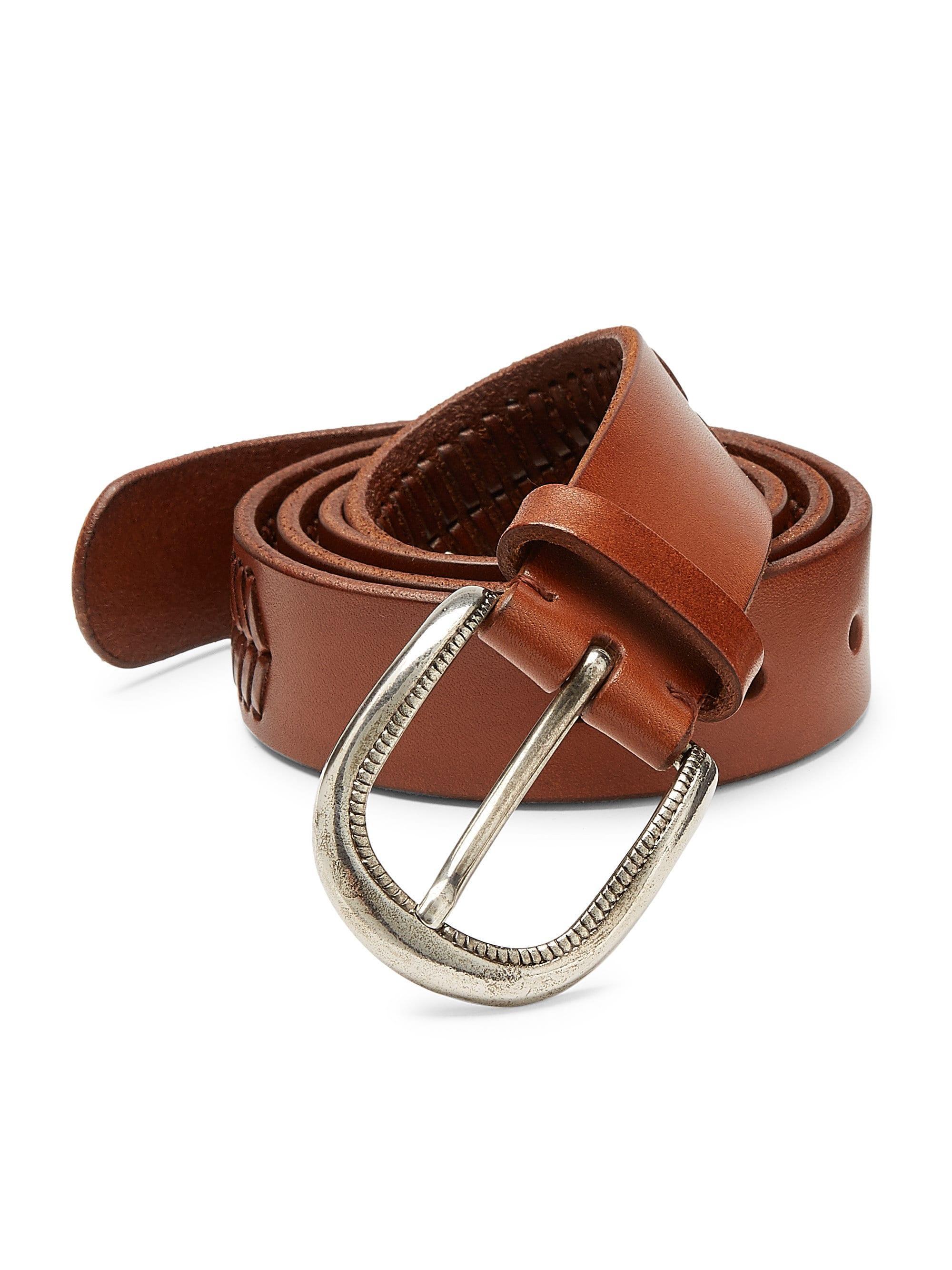 1aca3d58b20 Brunello Cucinelli - Brown Men s Leather Belt - Dark for Men - Lyst. View  fullscreen