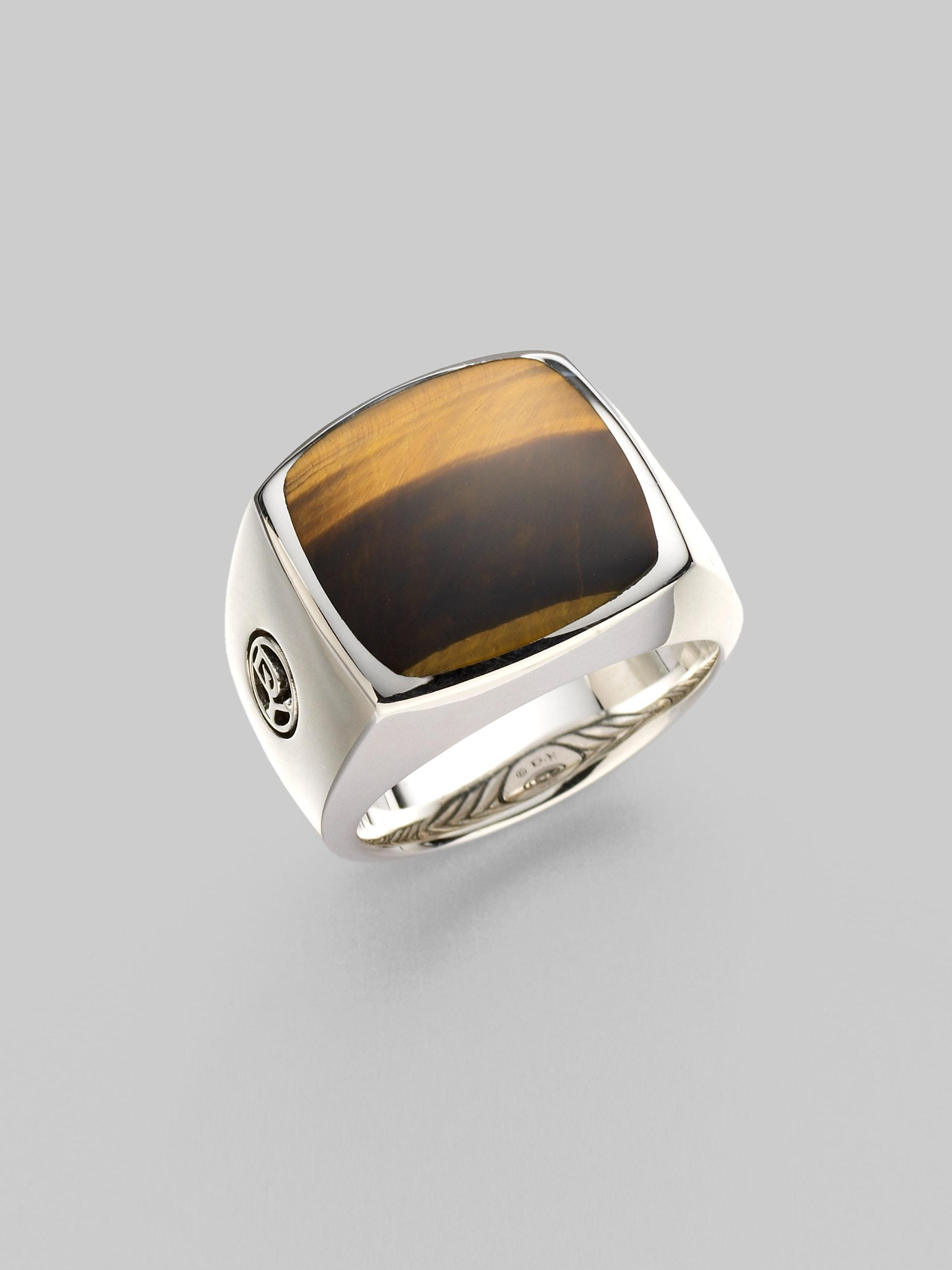 1cbbabaf23189 David Yurman Tiger's Eye Signet Ring in Metallic for Men - Lyst