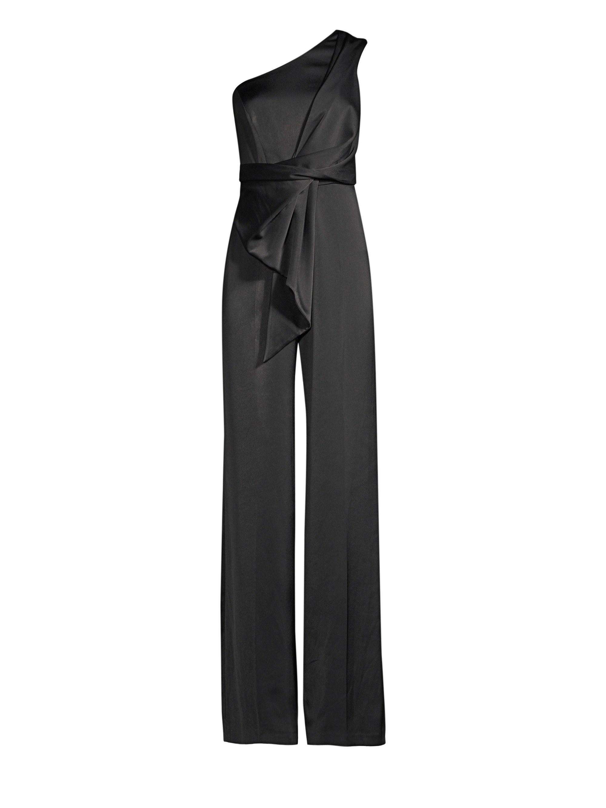 d891b849b7a7 Lyst - Jay Godfrey Cora One-shoulder Jumpsuit in Black