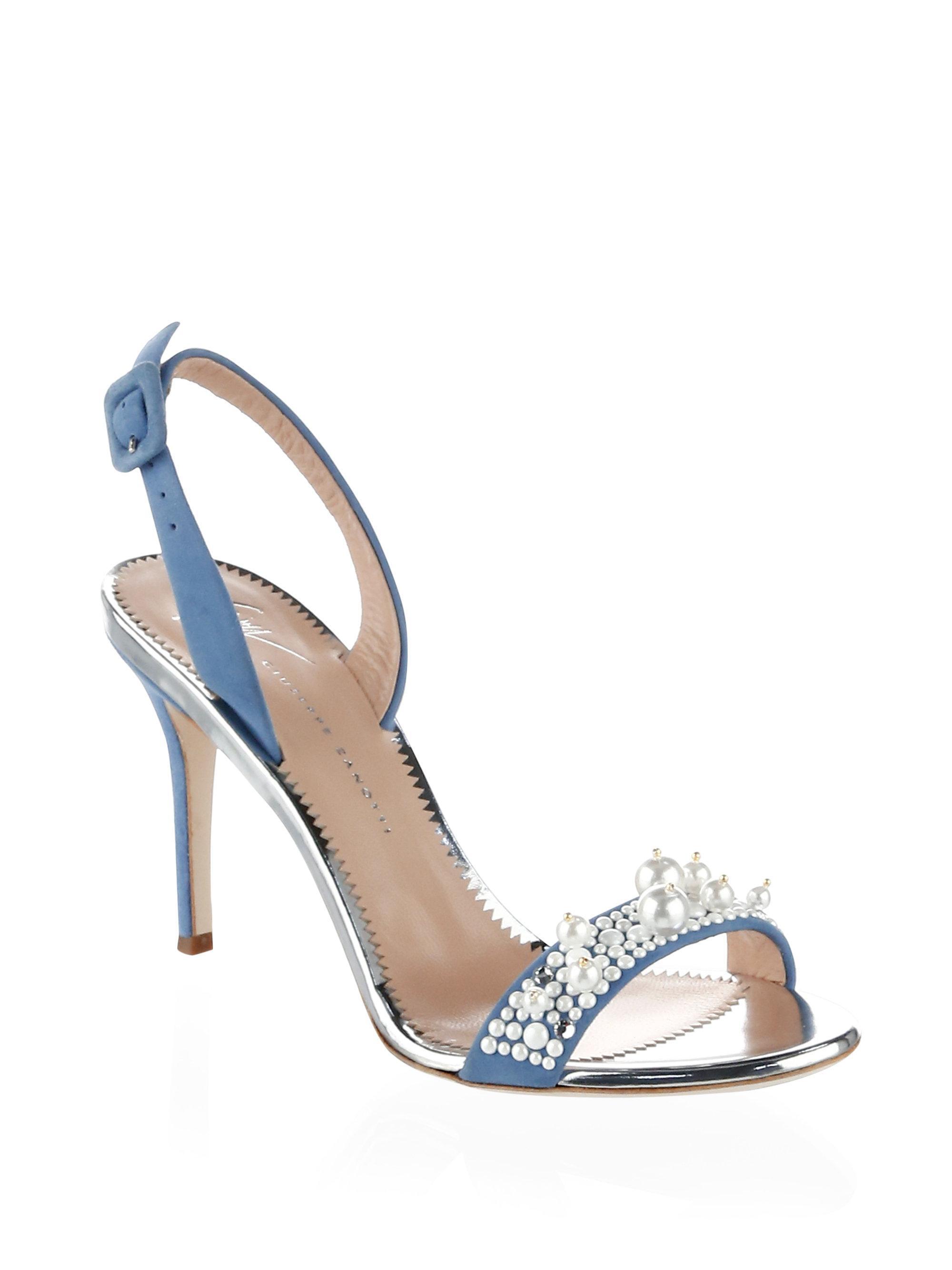 pearl embellished sling back sandals - White Giuseppe Zanotti IDLl6NY0we