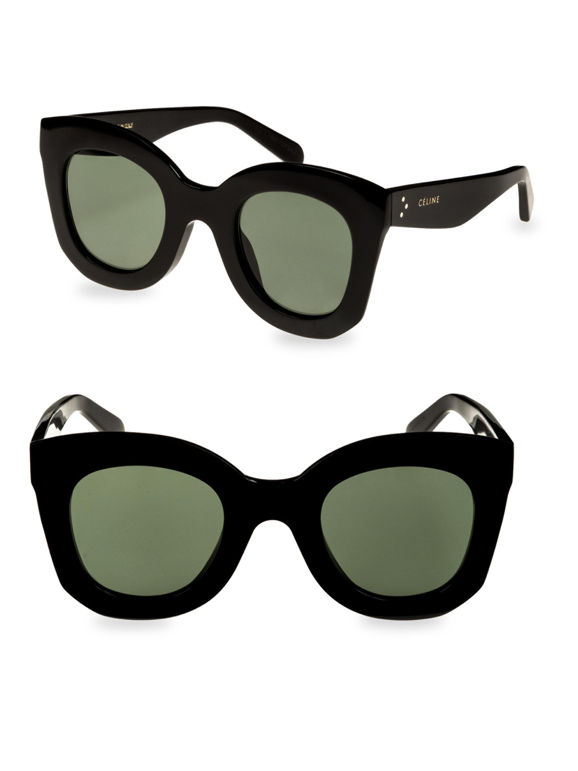 ba668aa3b567 Lyst - Céline Oversized Butterfly Sunglasses in Black