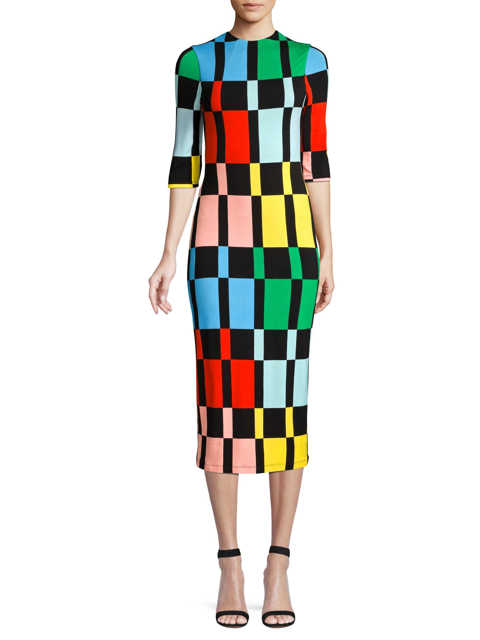 49510cf73 Alice + Olivia Women's Delora Knit Colorblock Sheath Dress ...