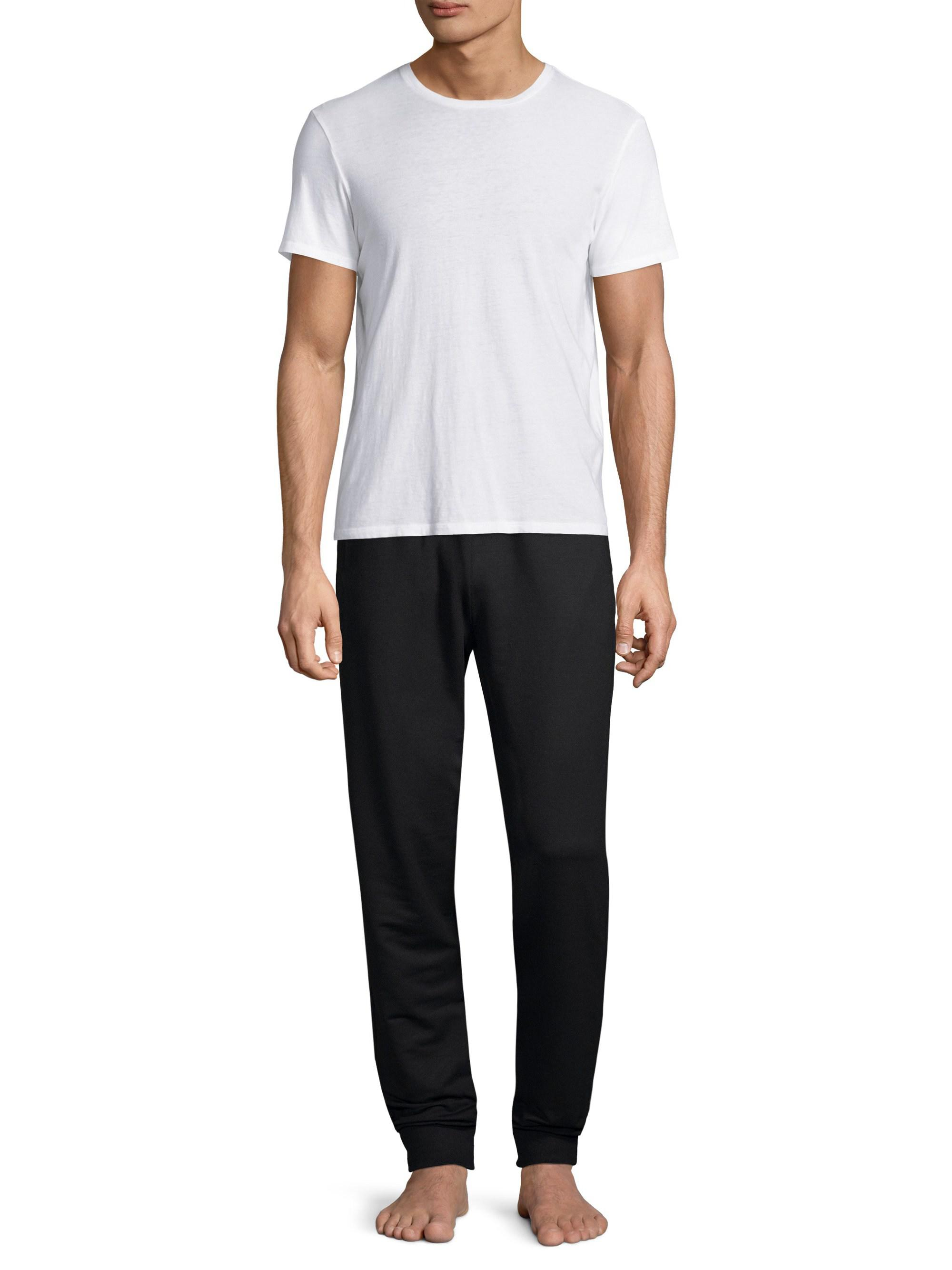 bd3920fdd7 Versace Black Greca Border Gym Trousers for men