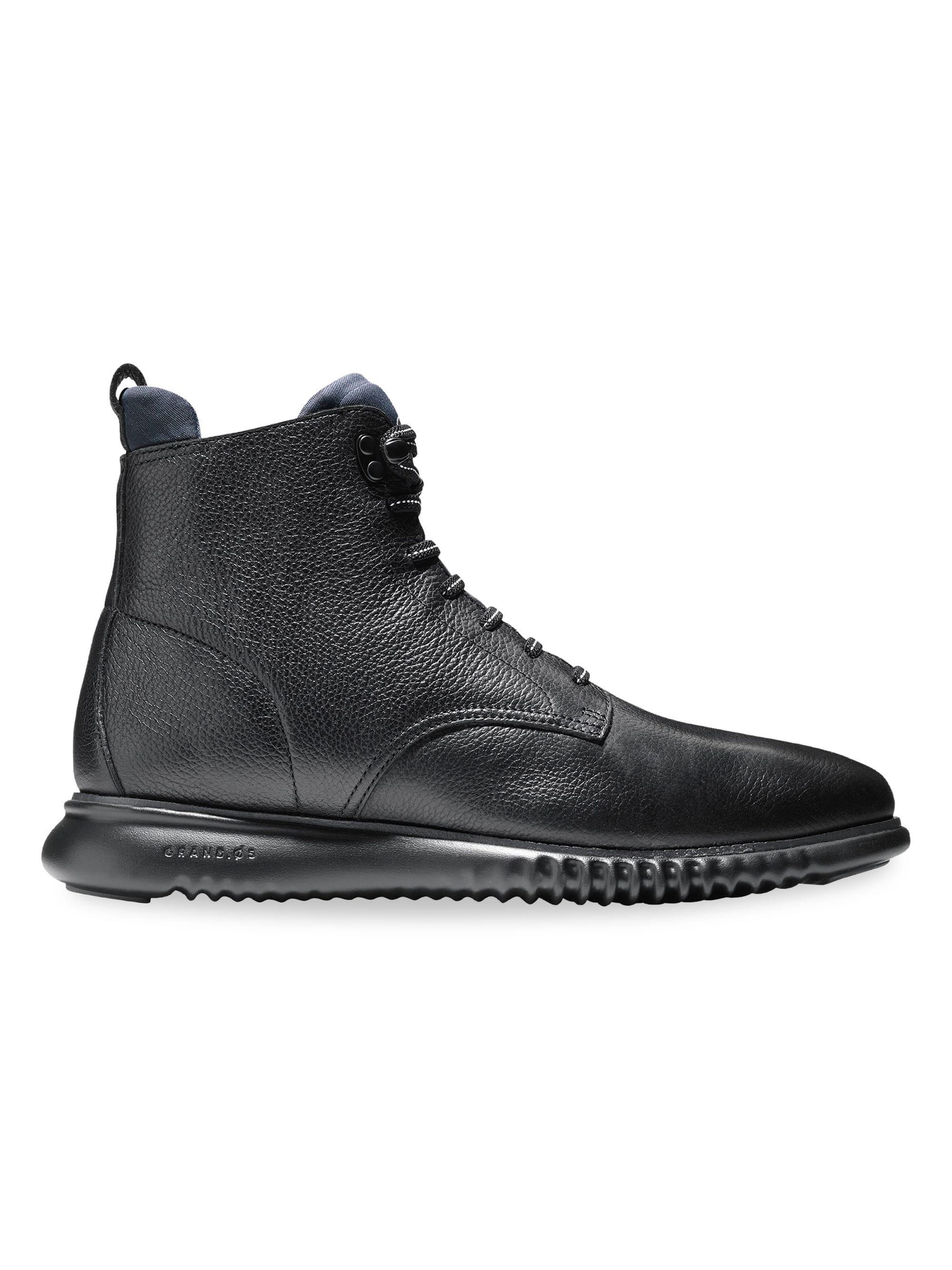 Cole Haan 2 Zerogrand City Leather Boots In Black For Men