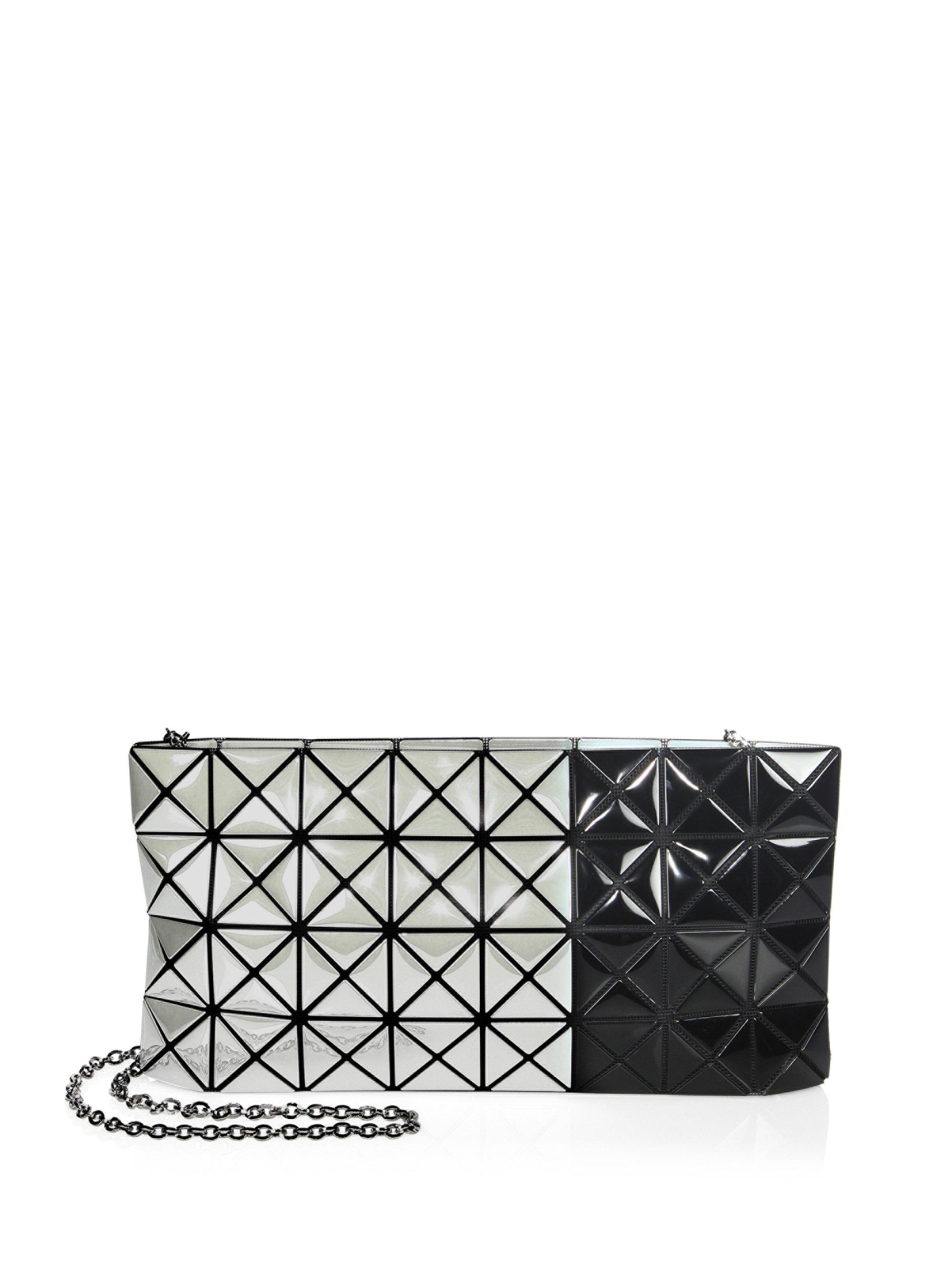 2e54af256d Bao Bao Issey Miyake Prism Two-tone Chain Clutch in Black - Save ...