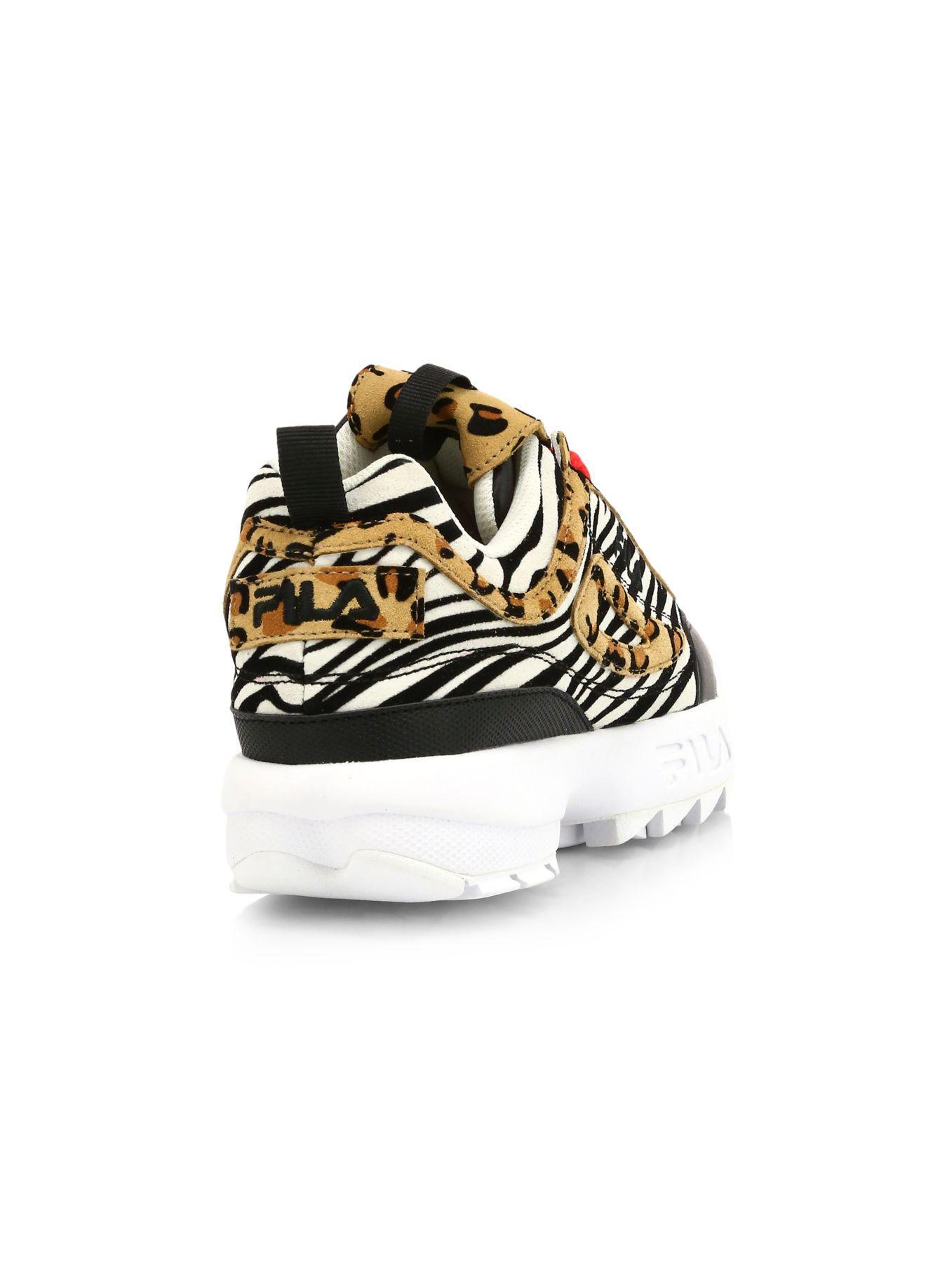 leopard print fila trainers