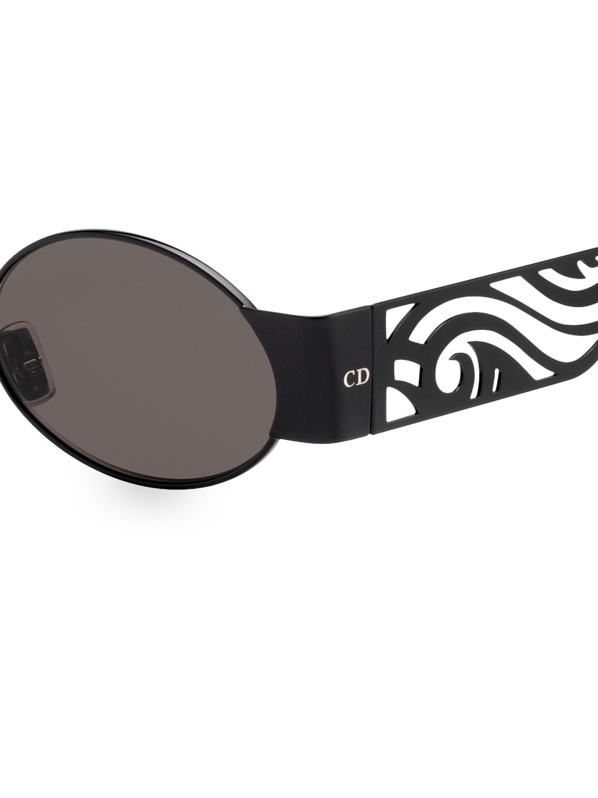 7dbbb6408fc3c Dior Homme - Black 51mm Round Rave Sunglasses for Men - Lyst. View  fullscreen