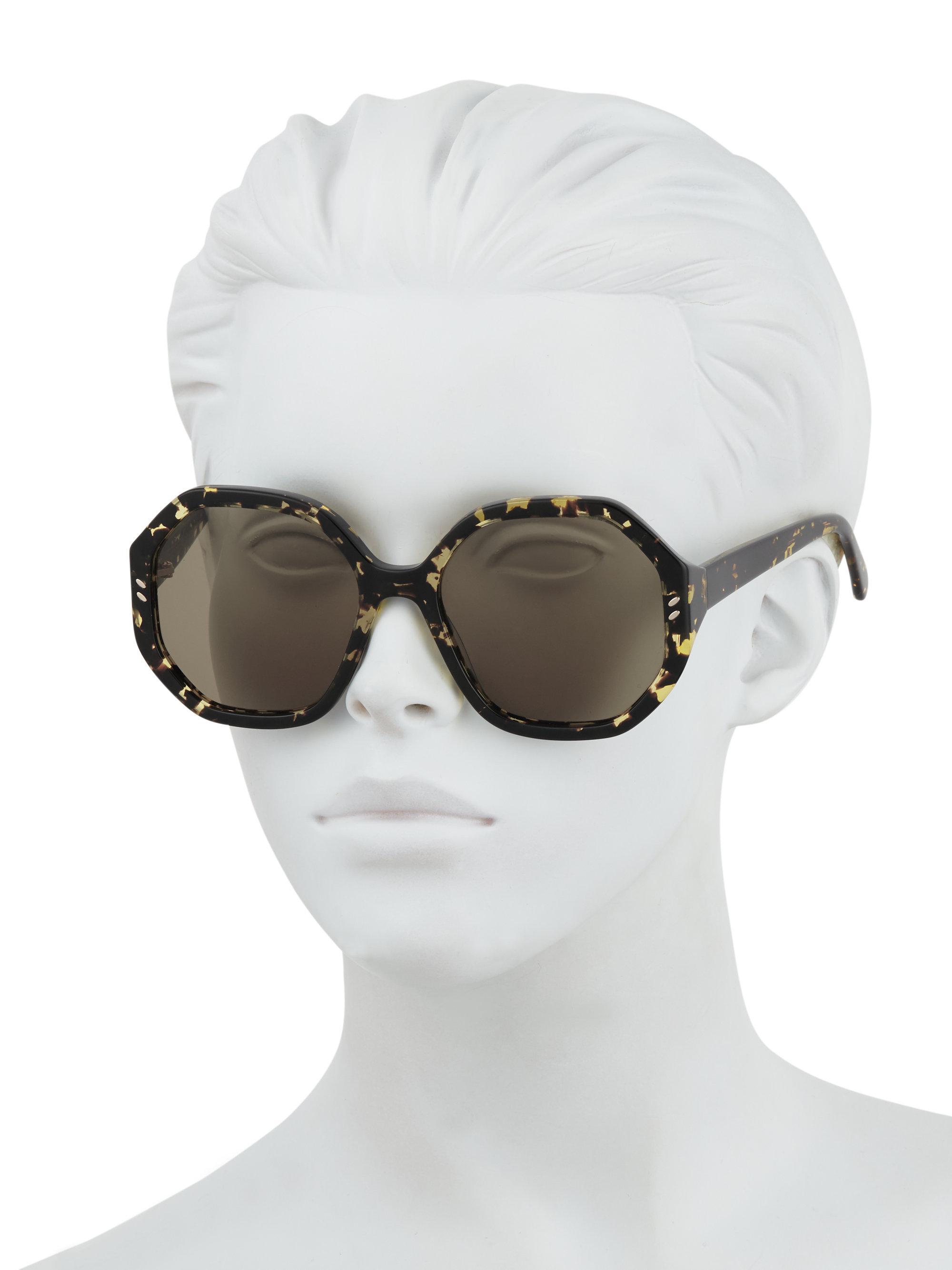 31f38728bc Stella McCartney - Multicolor Women s 56mm Havana Octagon Sunglasses - Dark  Havana - Lyst. View fullscreen