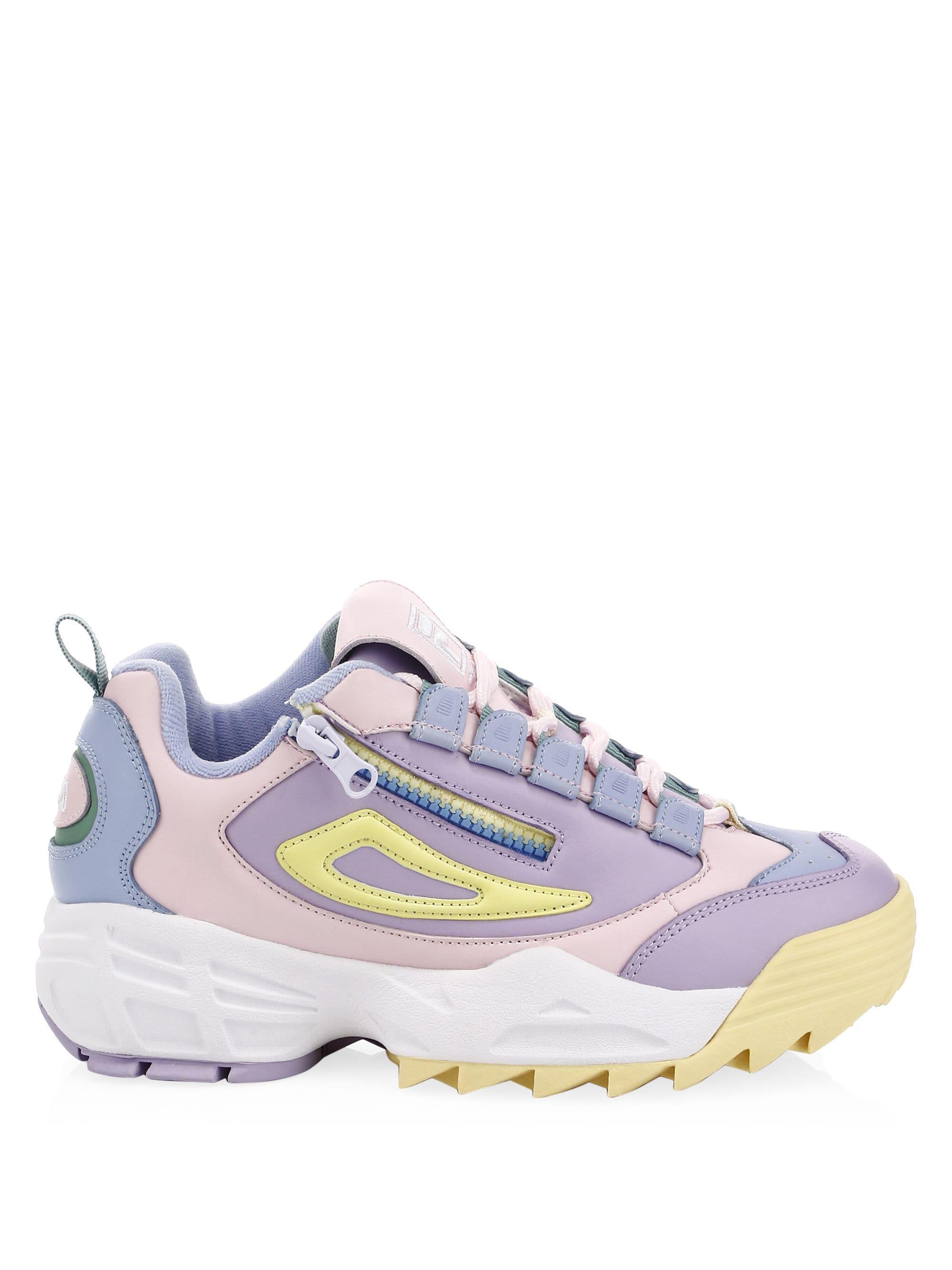 0a63675a1c5a Lyst - Fila Women s Disruptor Iii Zip Leather Sneakers