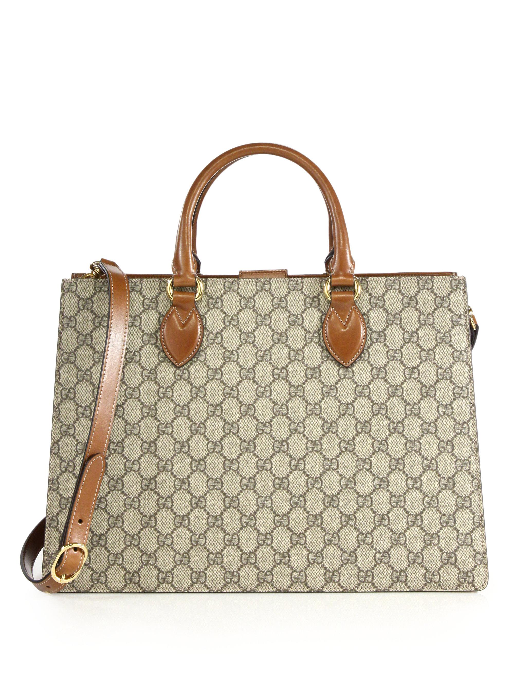 9fc65c86c5fb Gucci Gg Supreme Large Top-handle Bag in Natural - Lyst