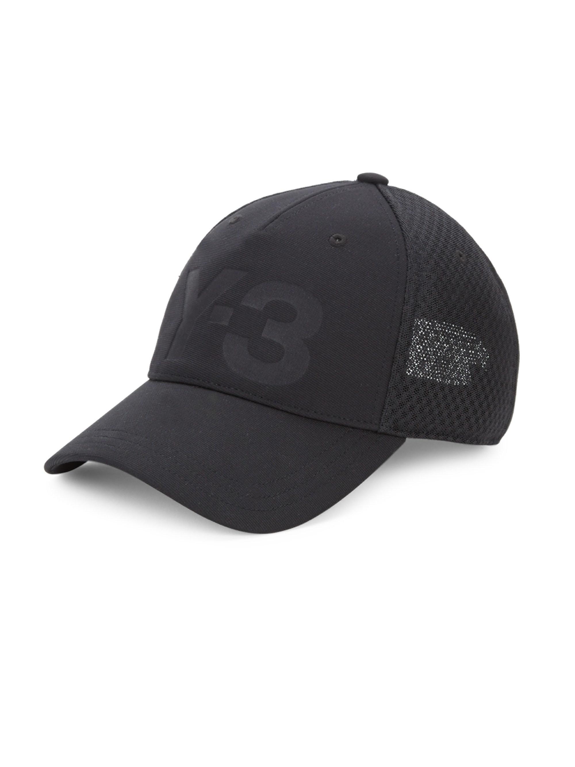076dc8eb4 Y-3 Logo Trucker Cap in Black for Men - Lyst