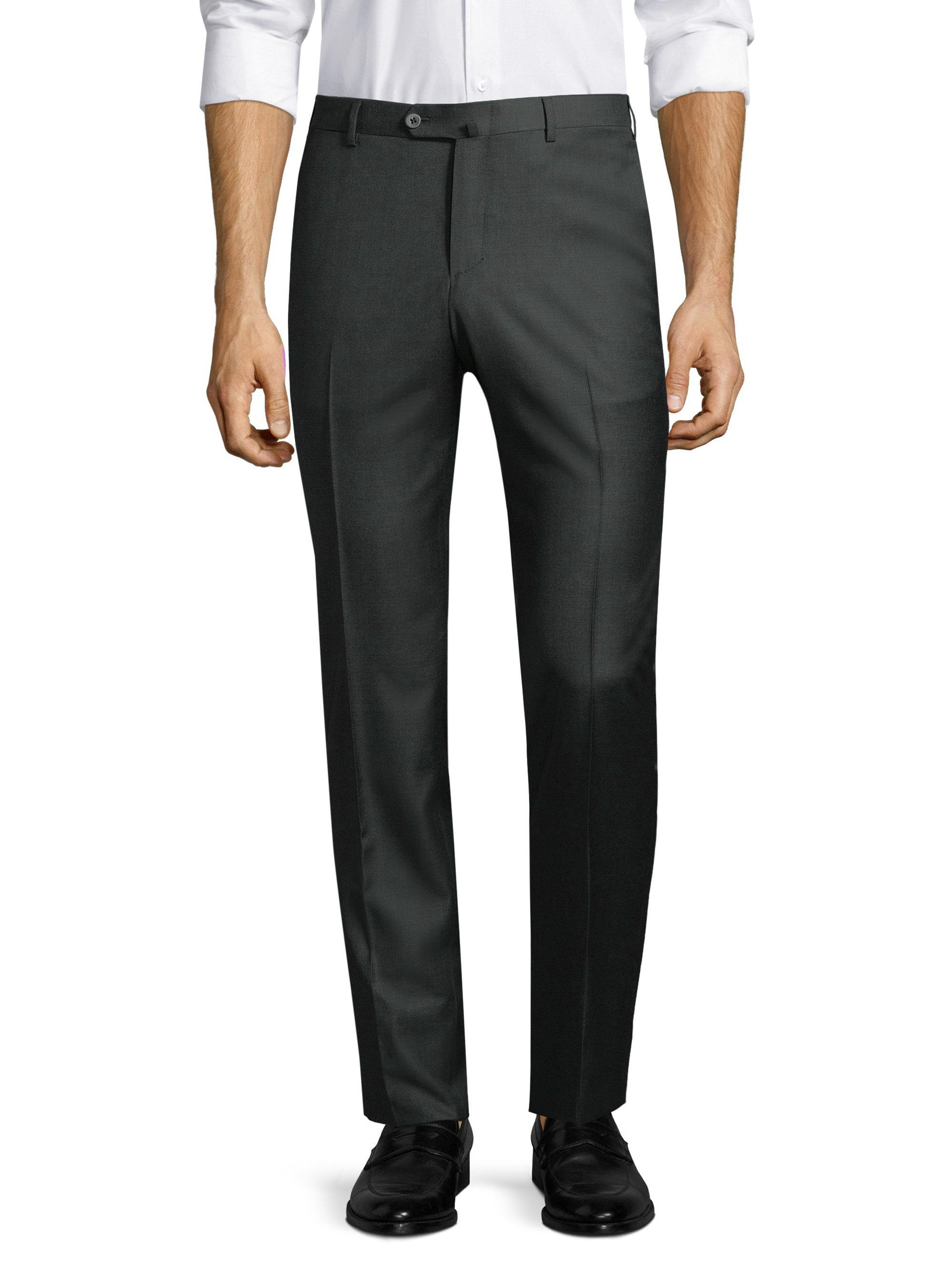 Nice Mens Micro-Canvas Trousers Isaia Outlet Get Authentic Sale Countdown Package Sale 100% Original OISKnWG90