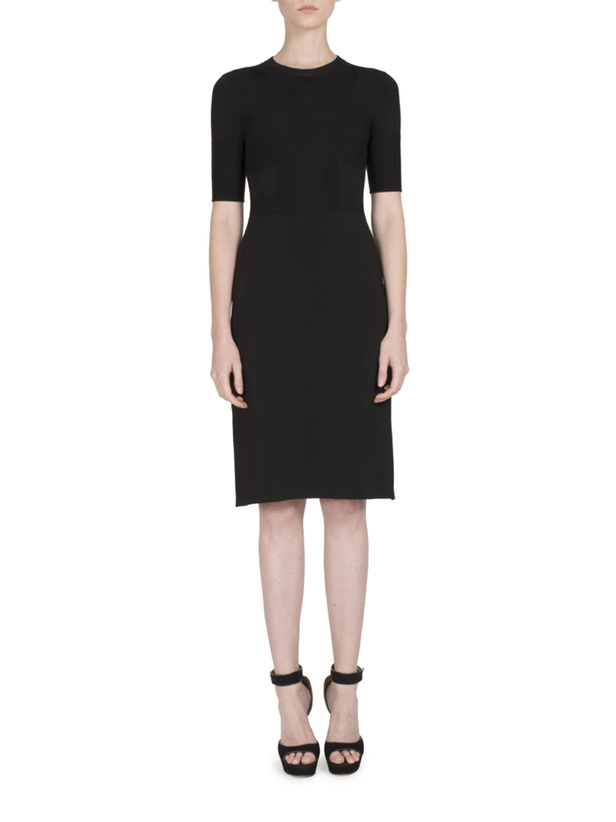 Lyst Givenchy Crewneck Bustier Knit Dress In Black