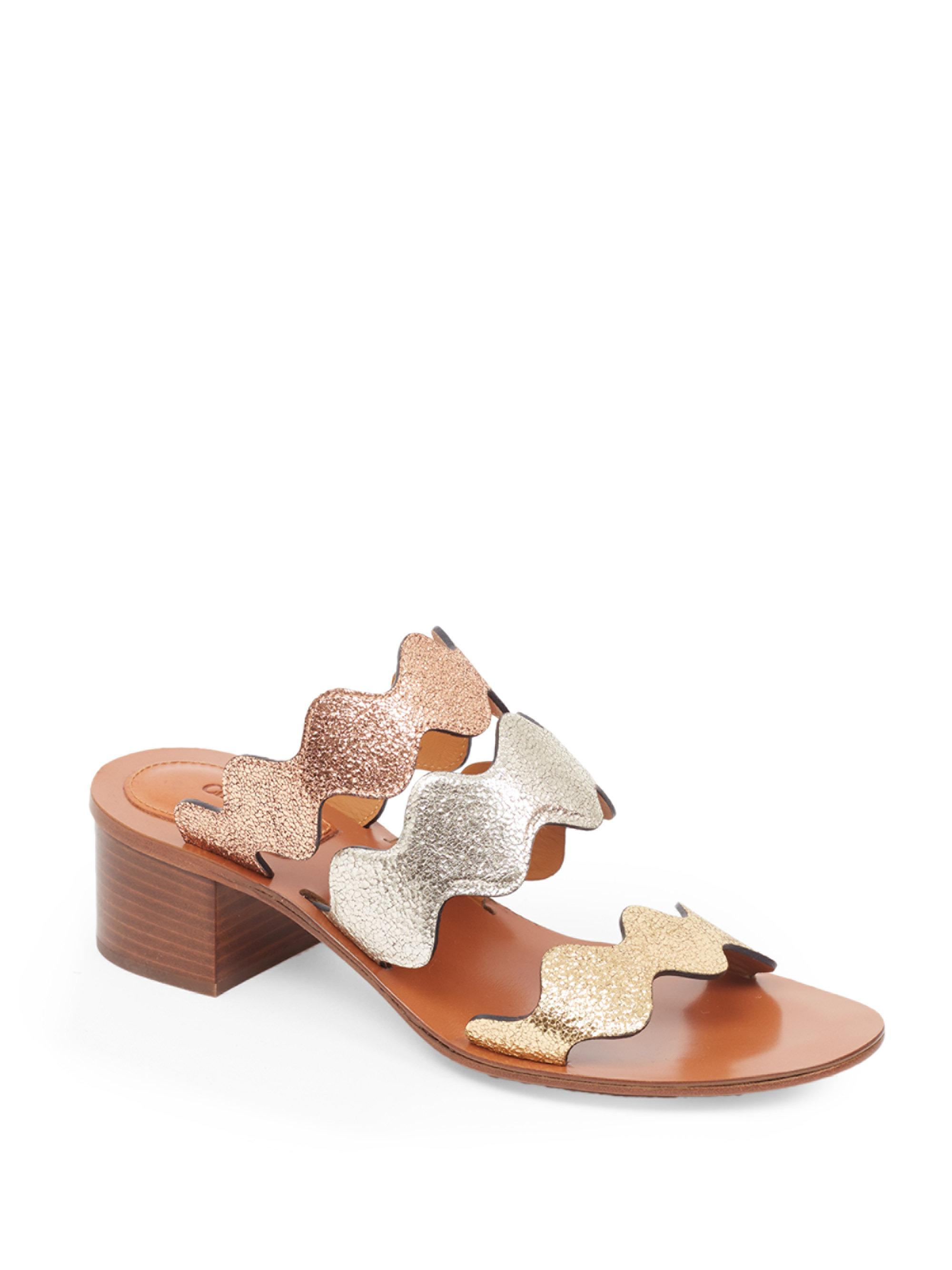 Chloé Loafer leather metal block heel BWI6wG