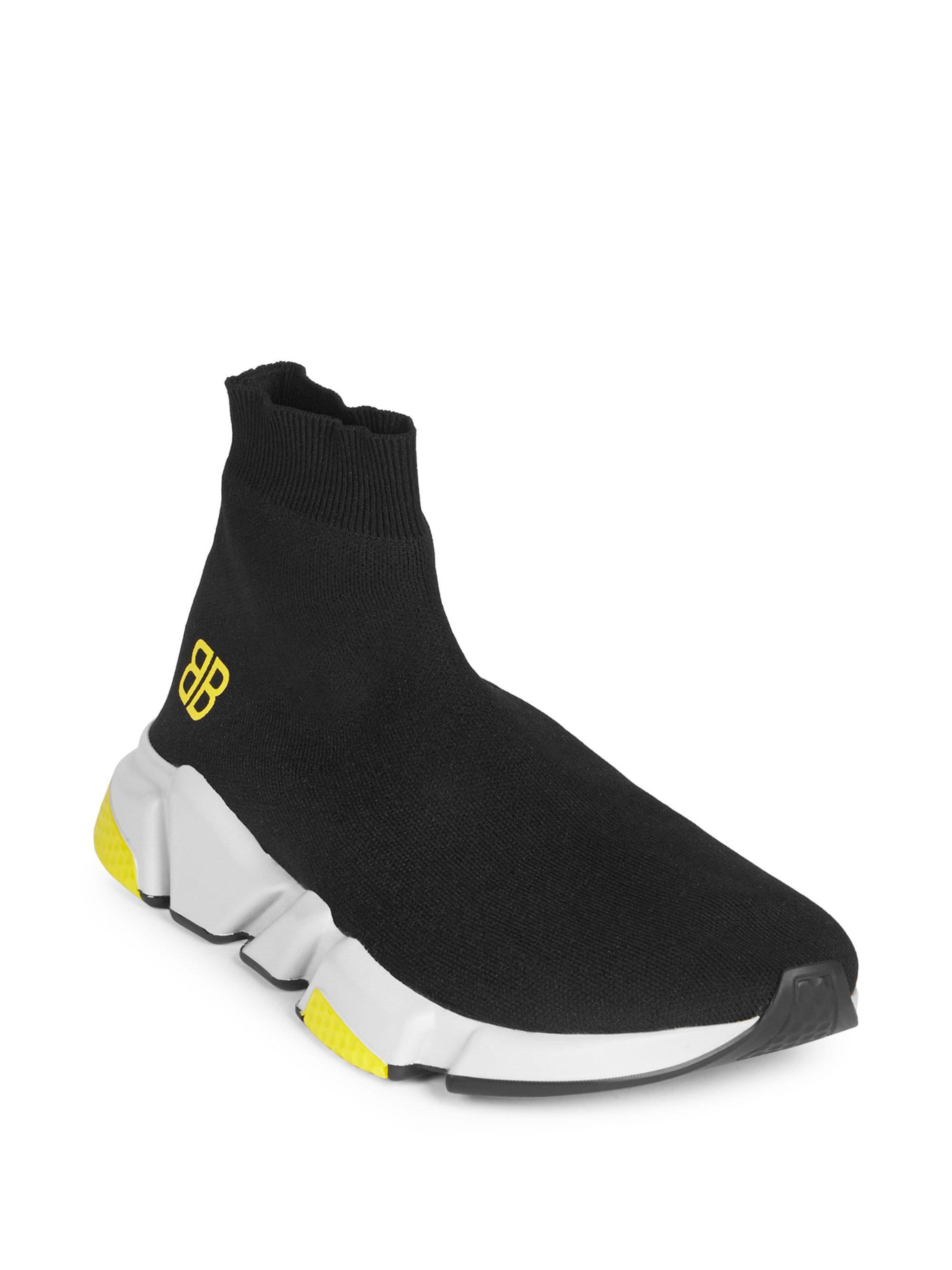 f0535e83b16f Balenciaga Speed Trainer Sock Sneakers in Black for Men - Lyst