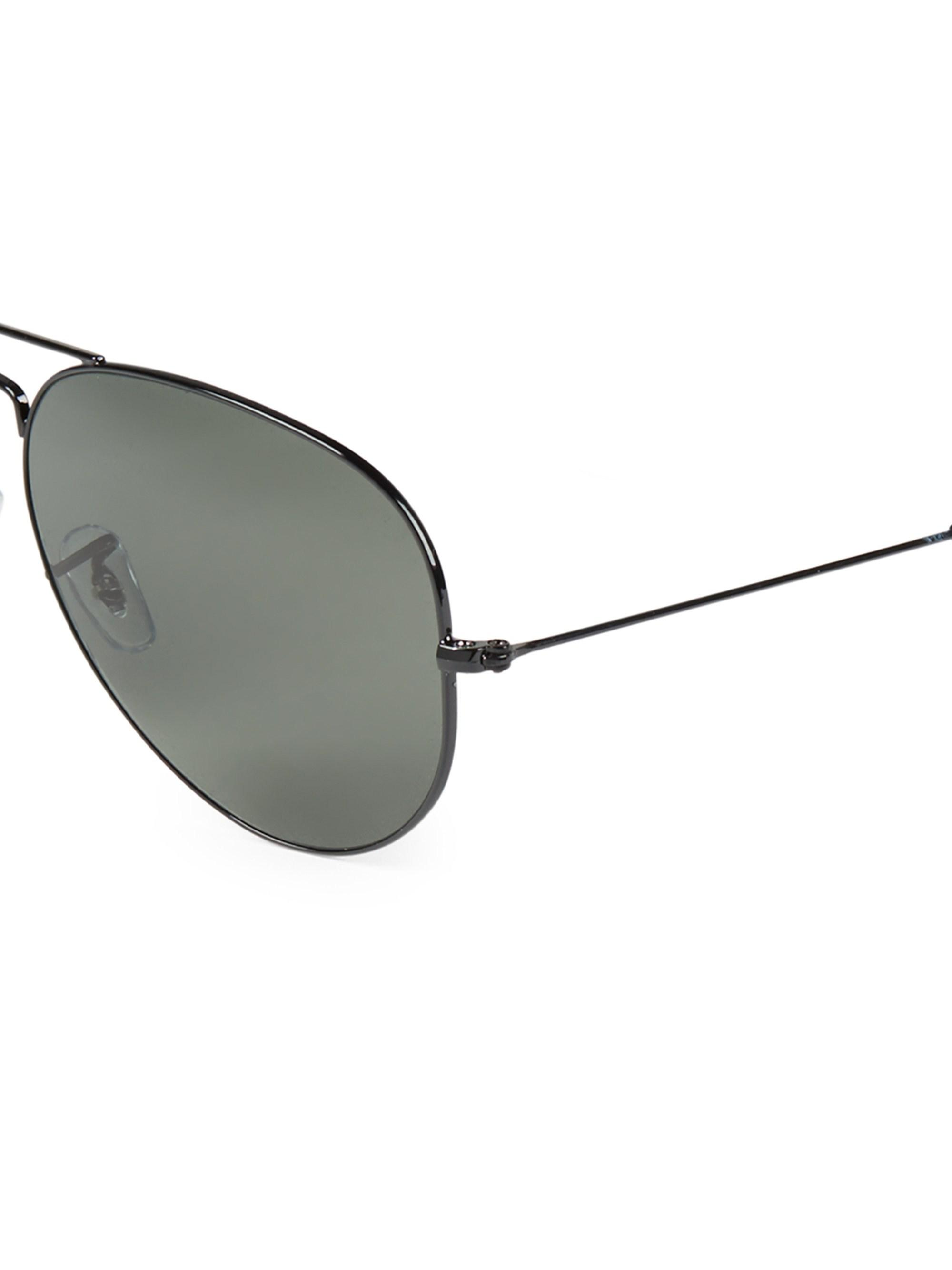 ffbb2db8ddd Ray-Ban Aviator Polarized Sunglasses in Black for Men - Lyst