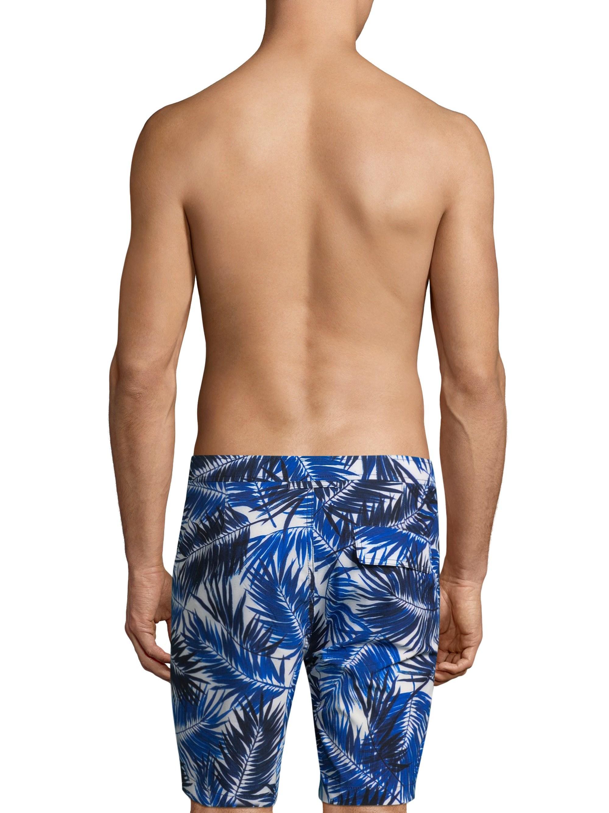61c67fecf4 Lyst - Onia Brushed Palm Calder Swim Trunks in Blue for Men