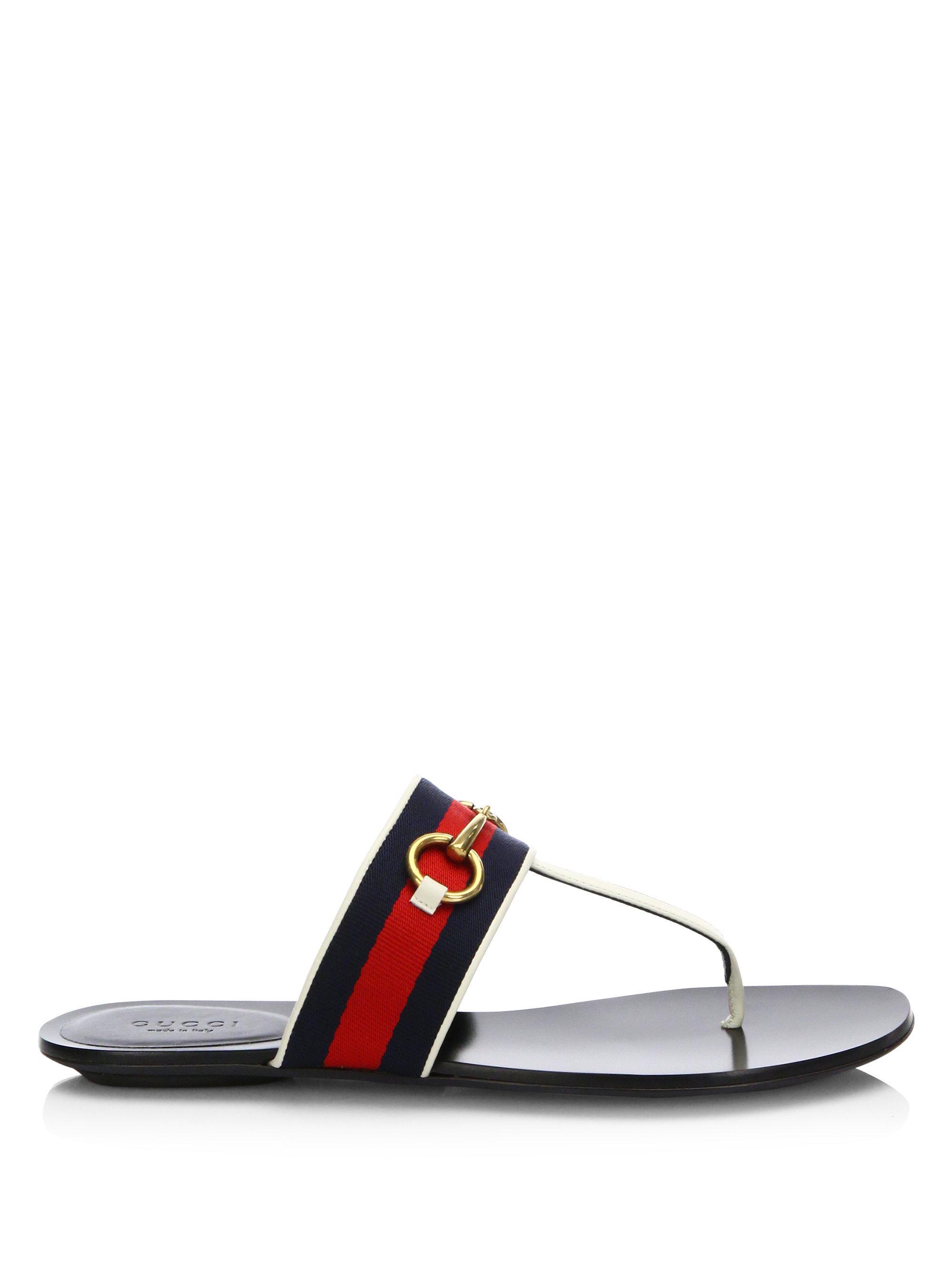 657998447674 Lyst - Gucci Querelle Web Thong Sandals