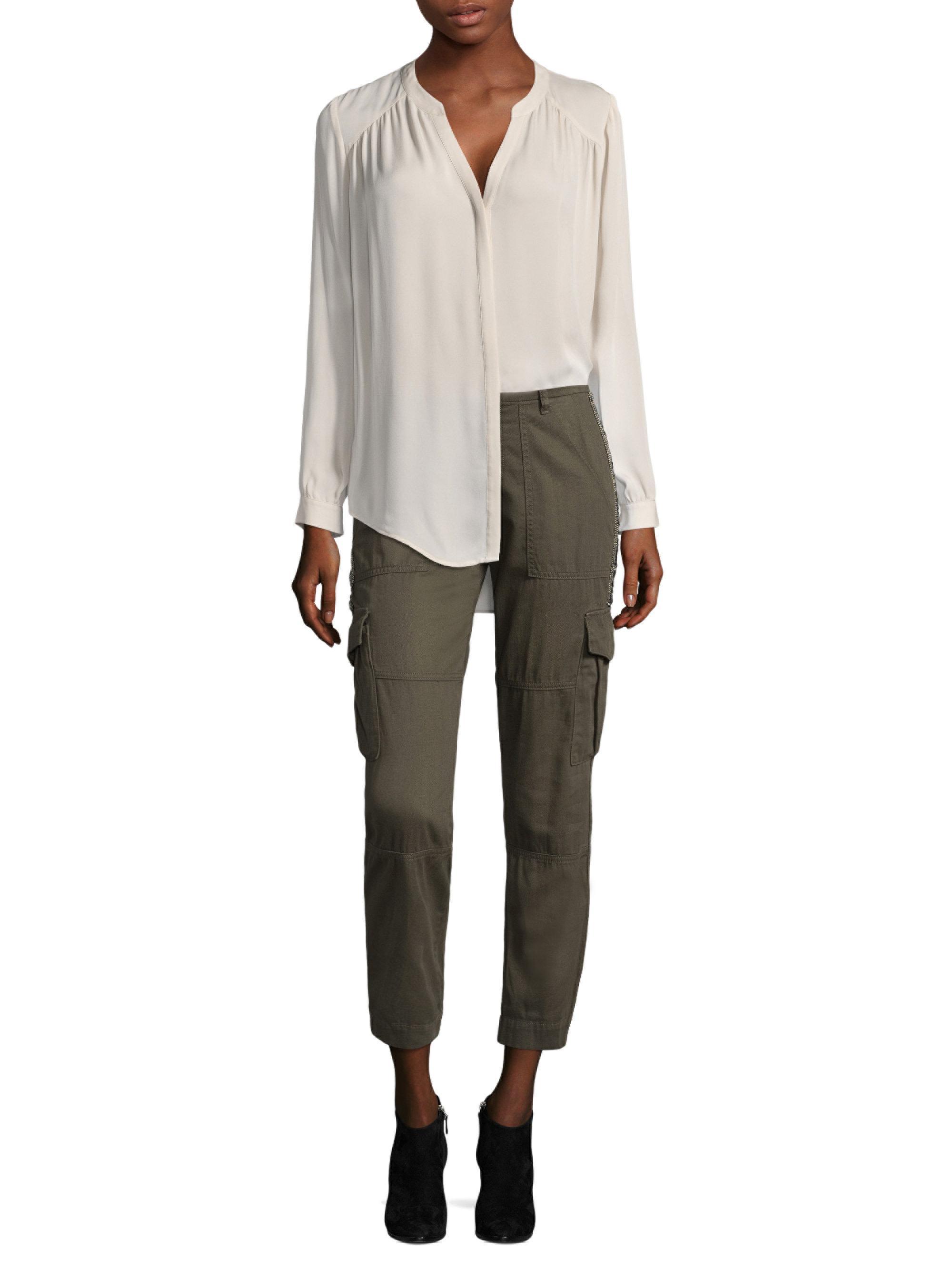 af33fab603ebb6 Lyst - Joie Yaritza Long Sleeve Silk Blouse