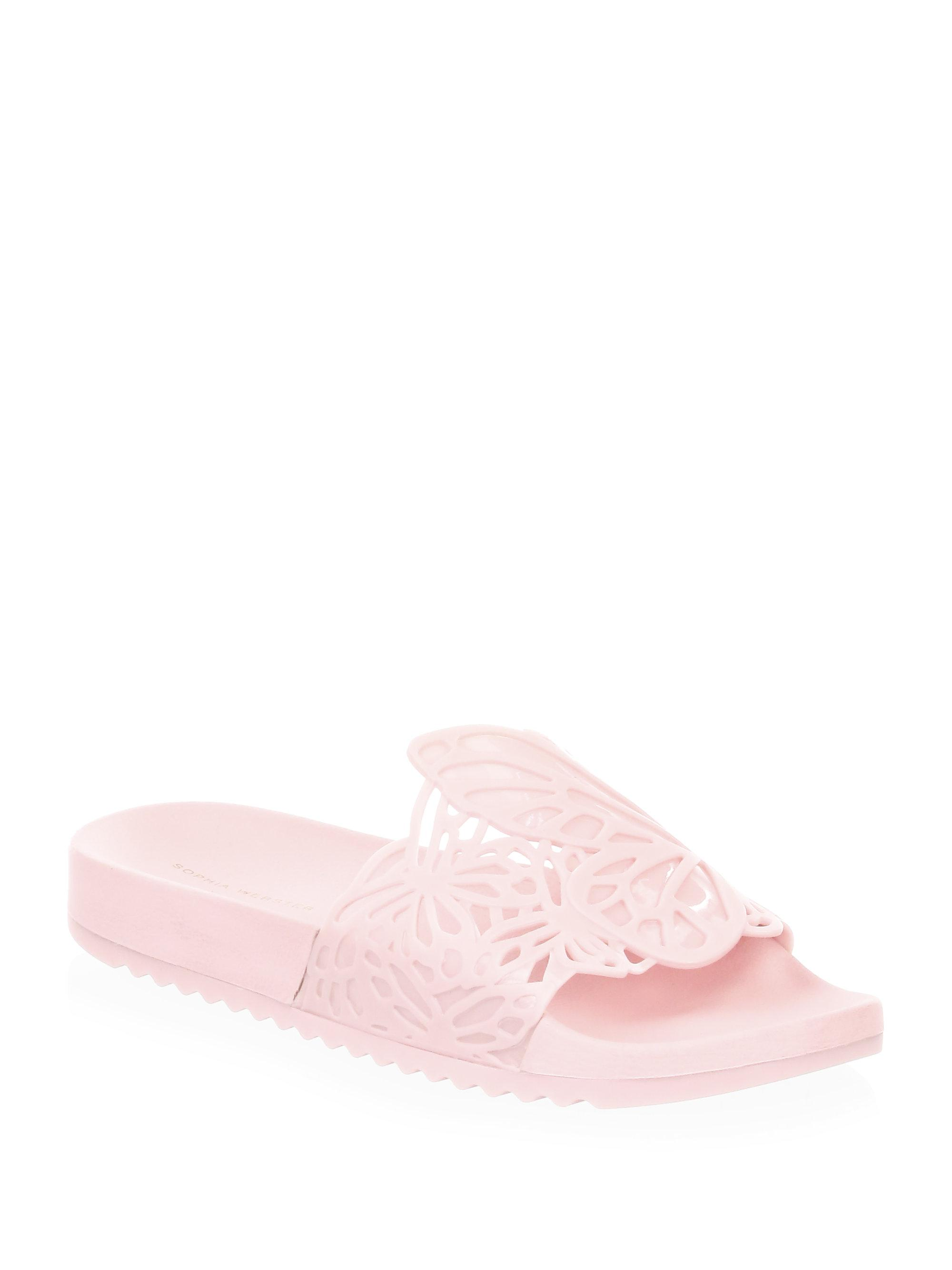 Sophia Webster Pink Lia Butterfly Slides largest supplier cheap price KLL78Je1