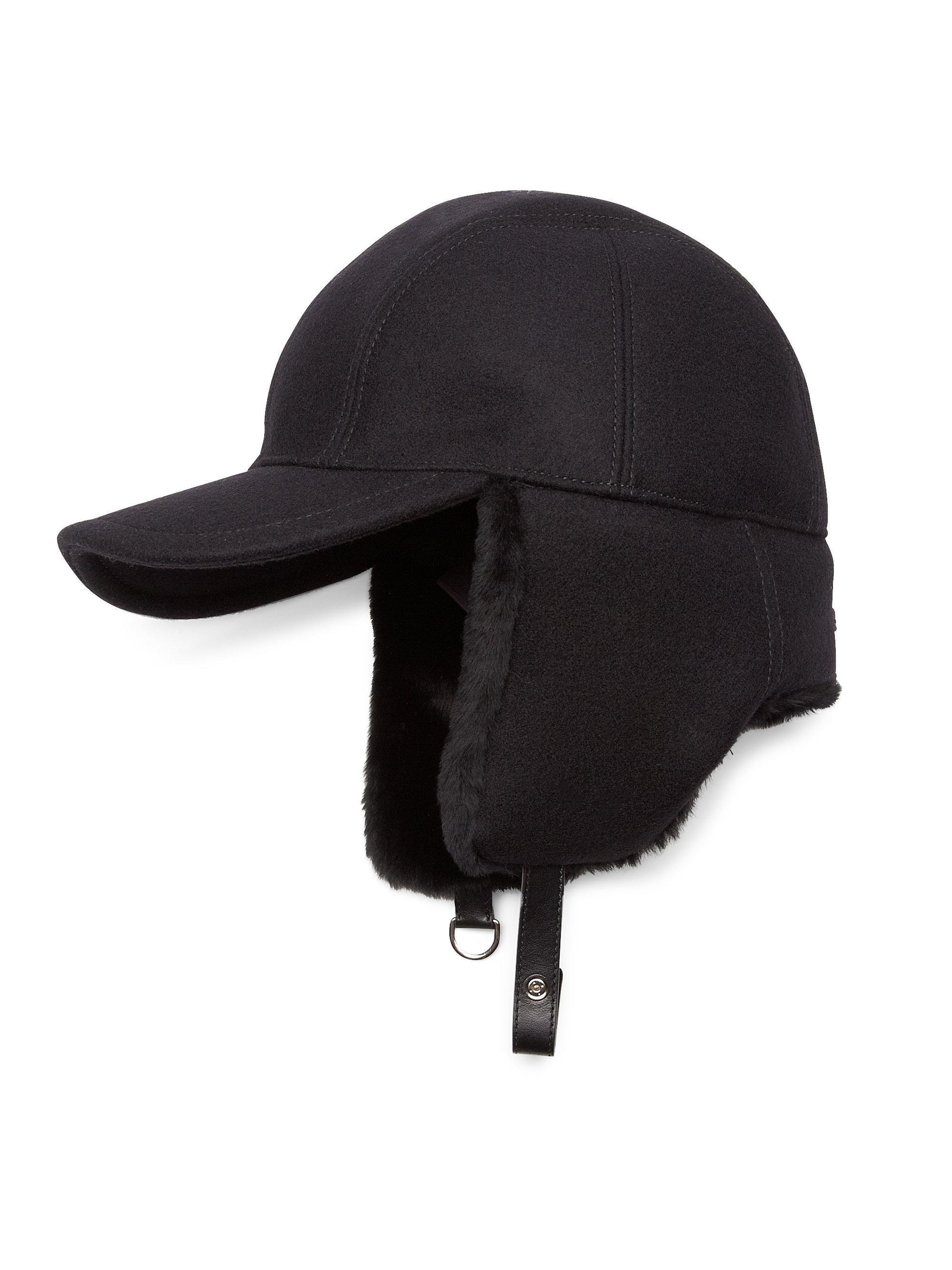 611075264ca Lyst - Prada Cappelli Shearling-lined Wool Cap for Men