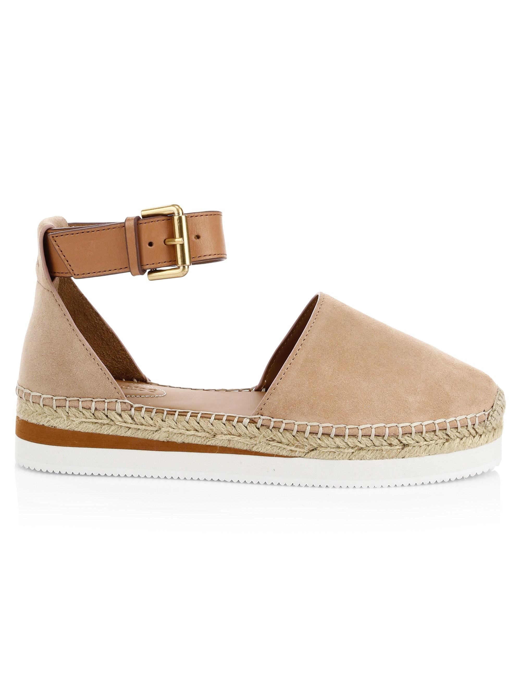 86172b568 See By Chloé Women's Glyn Leather Flat Espadrilles - Pink Multi ...