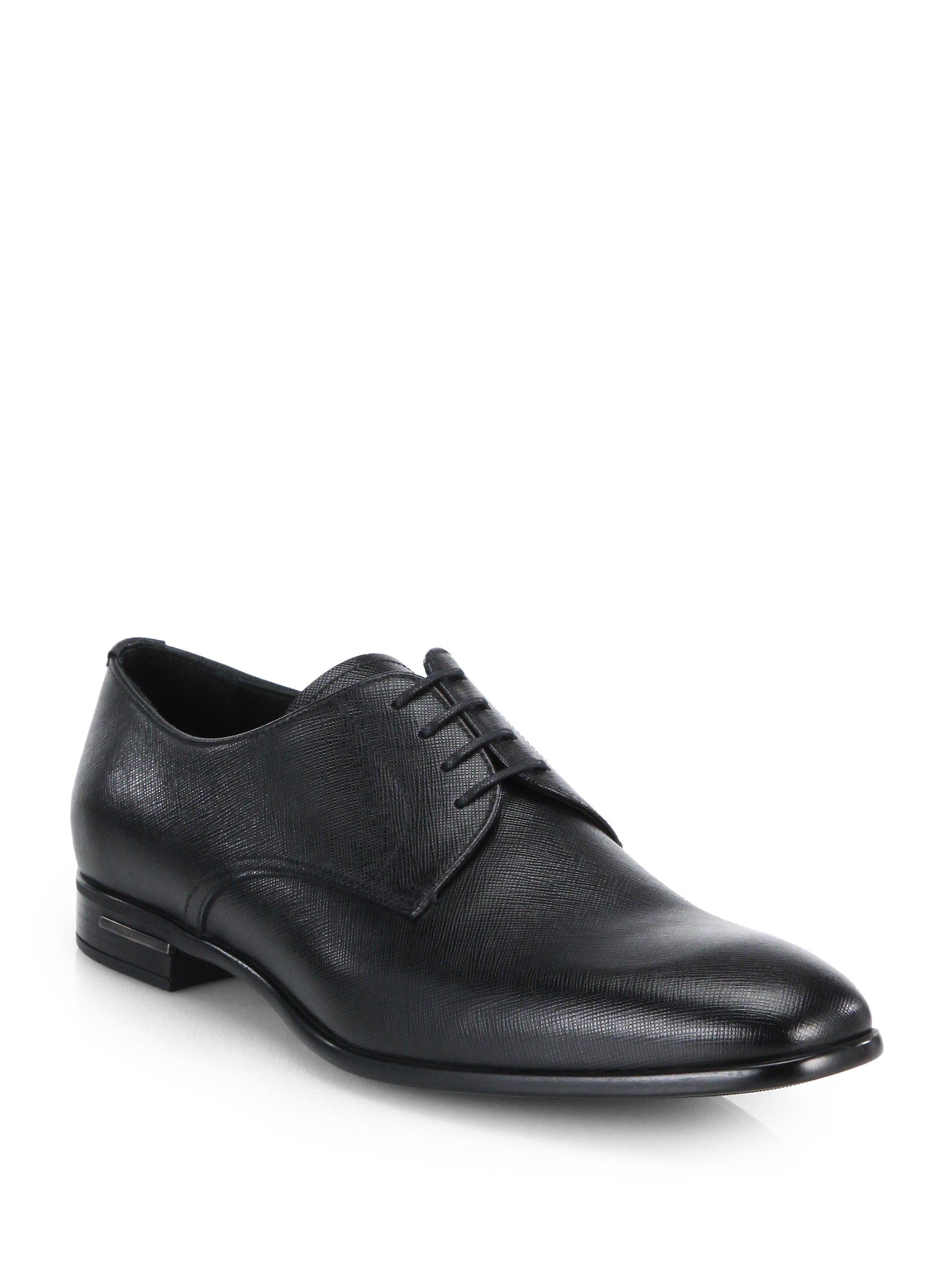 saffiano Oxford shoes - Black Prada Gb5Rw